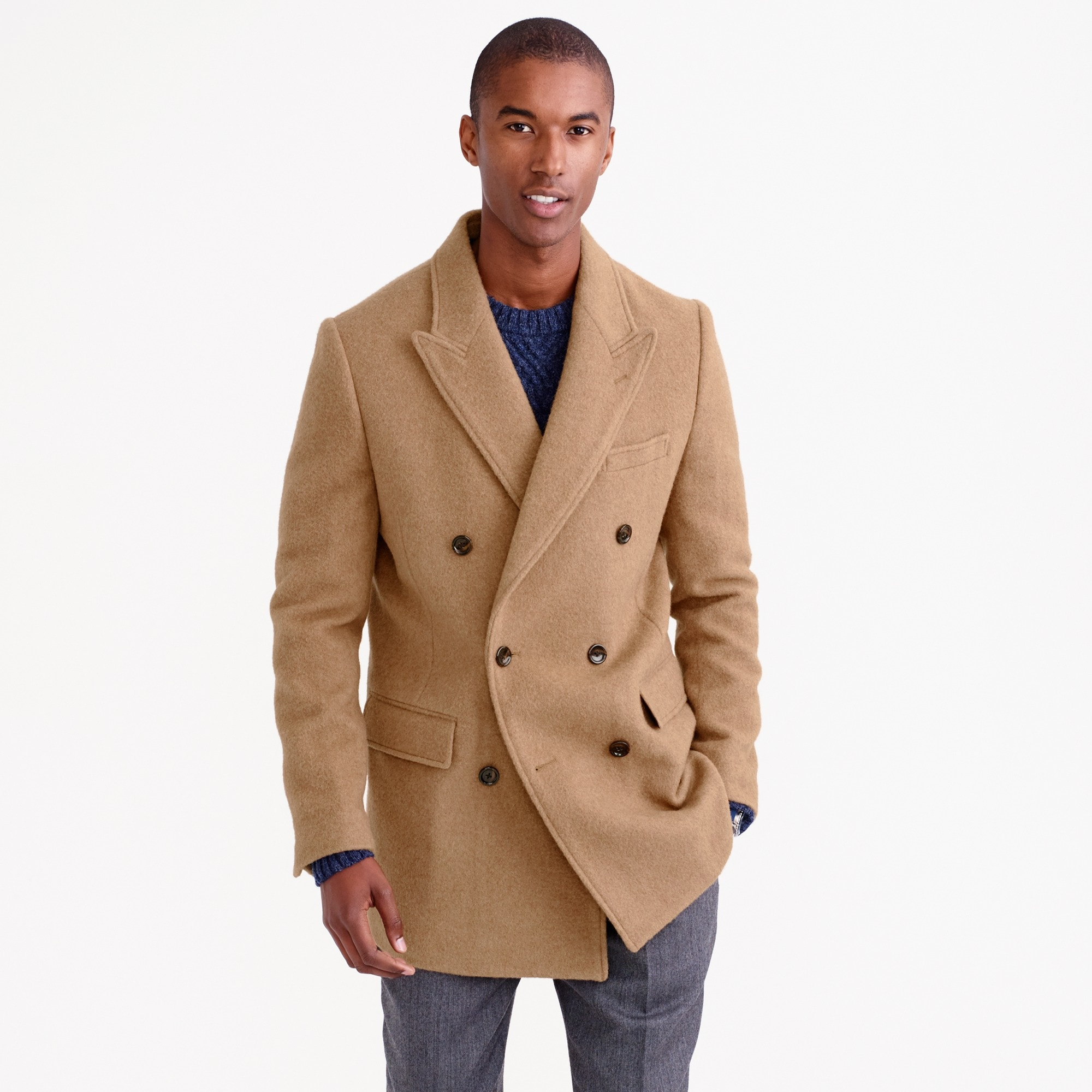 english camel-hair peacoat : men's coats & jackets