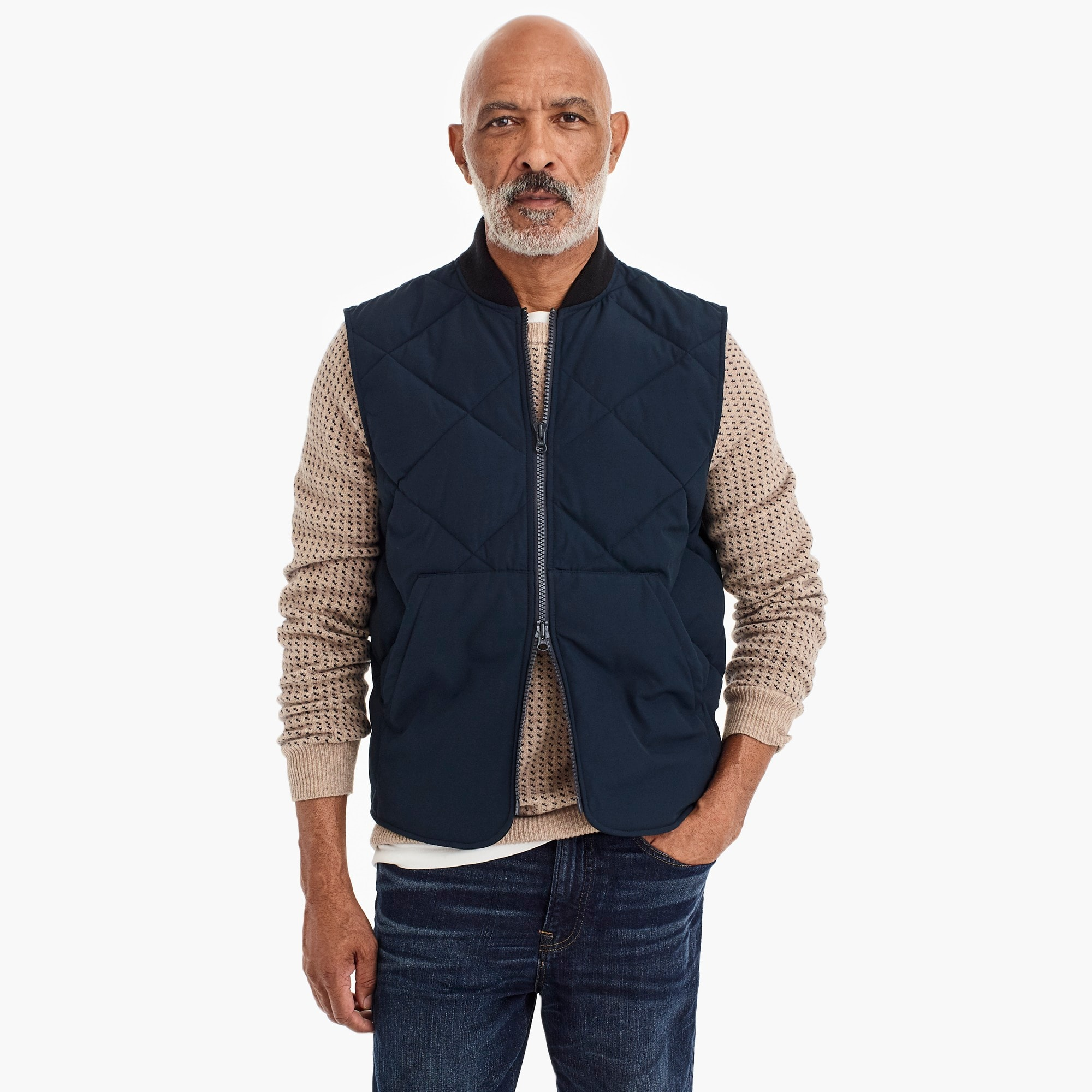 mens Nordic down vest with Primaloft®