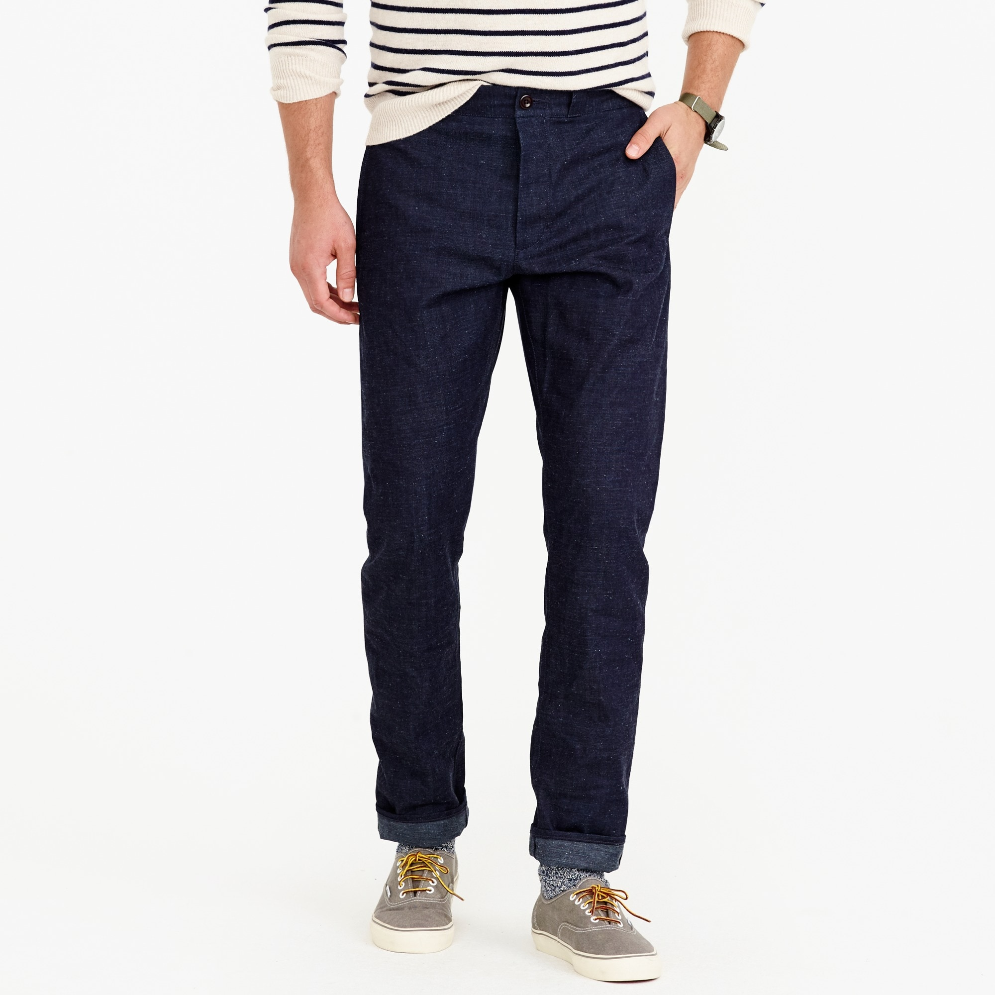 Wallace & Barnes chino pant in raw selvedge denim