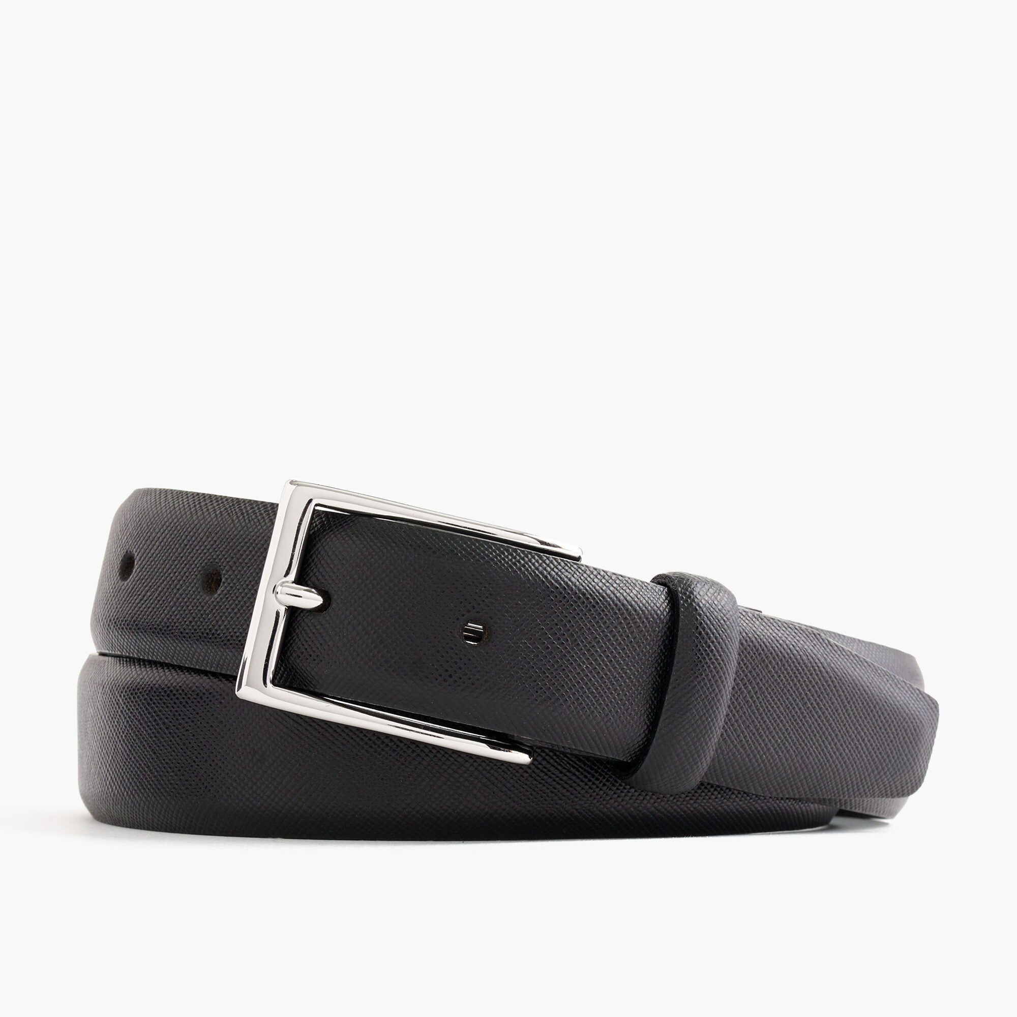 textured leather dress belt : men's belts