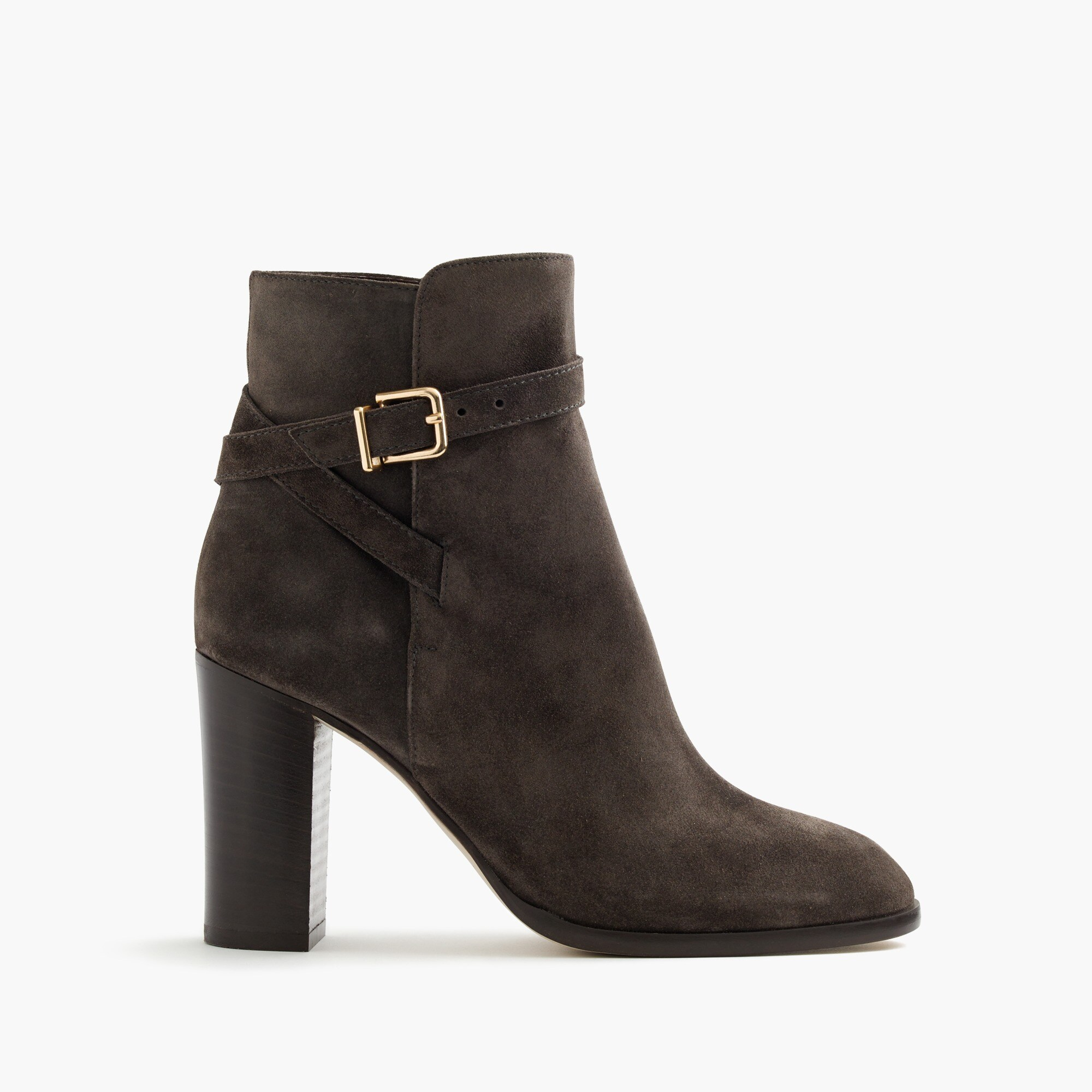 suede ankle boots with wraparound buckle : women's boots