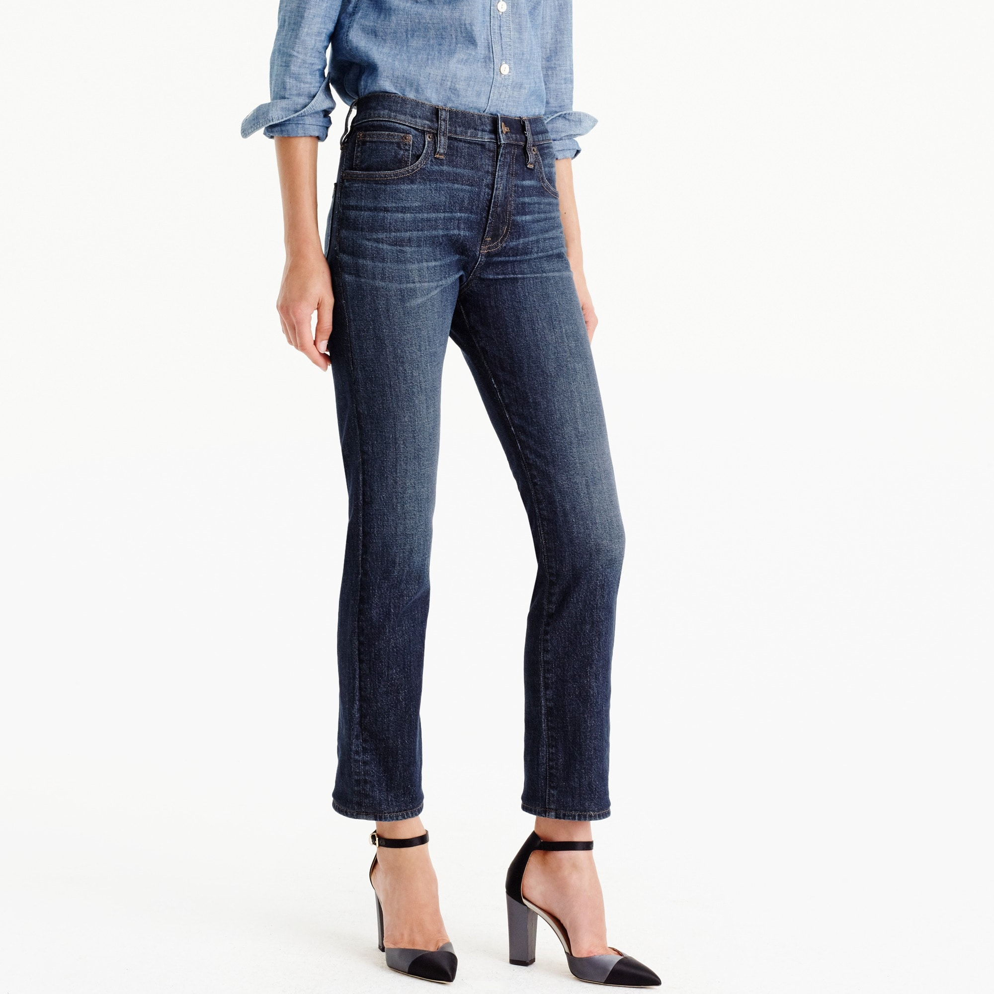Tall Vintage crop jean in Leopold wash