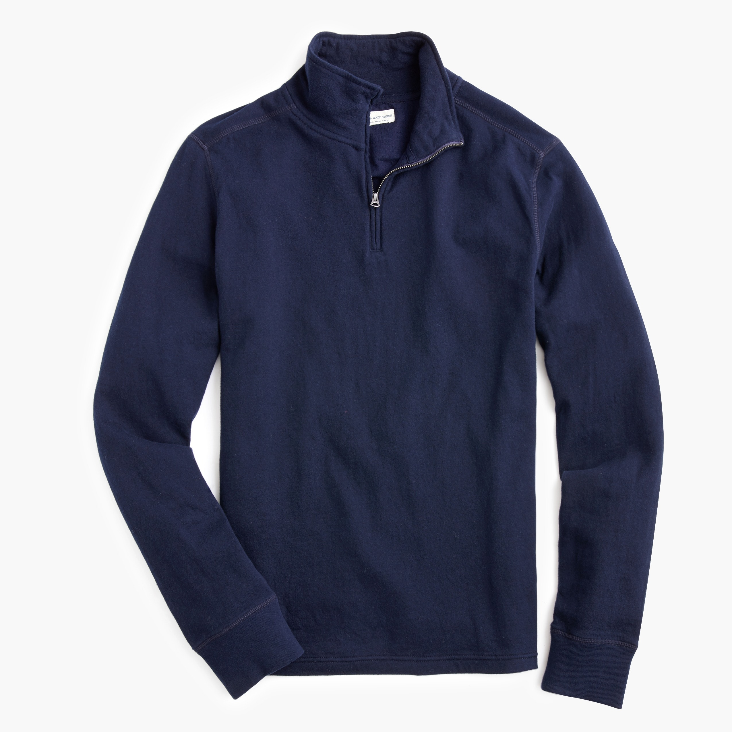 mens Tall double-knit half-zip pullover