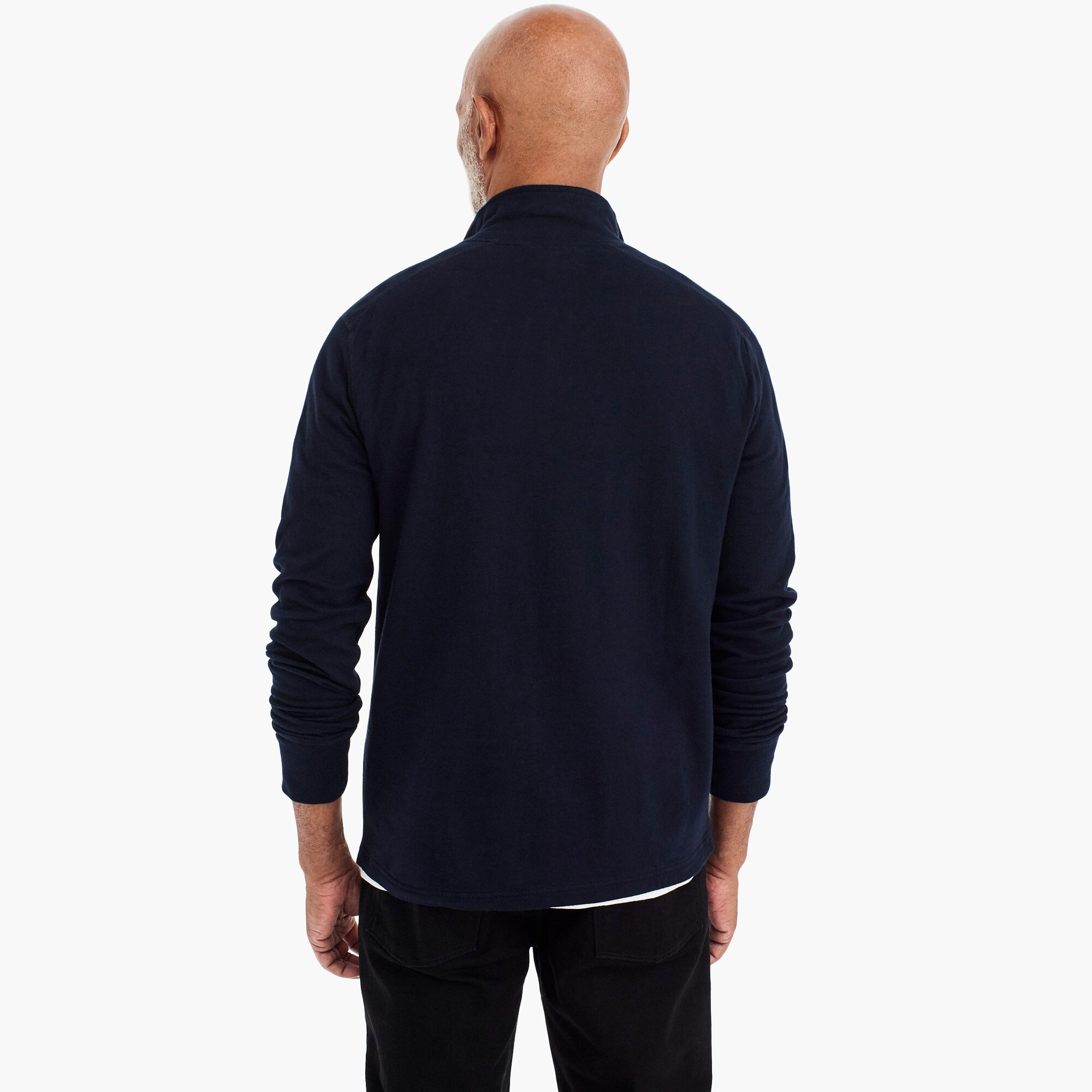 Image 4 for Tall double-knit half-zip pullover