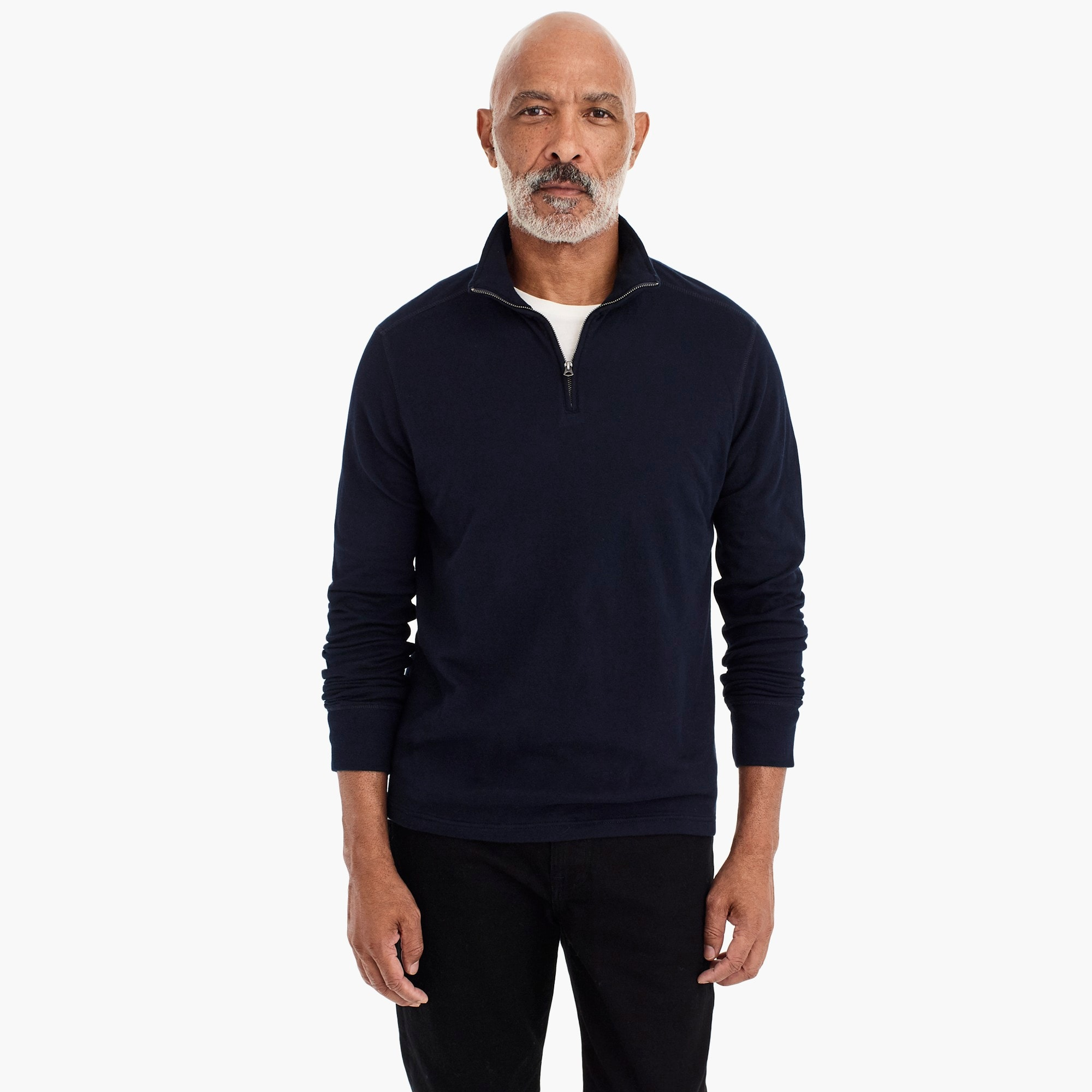 Tall double-knit half-zip pullover