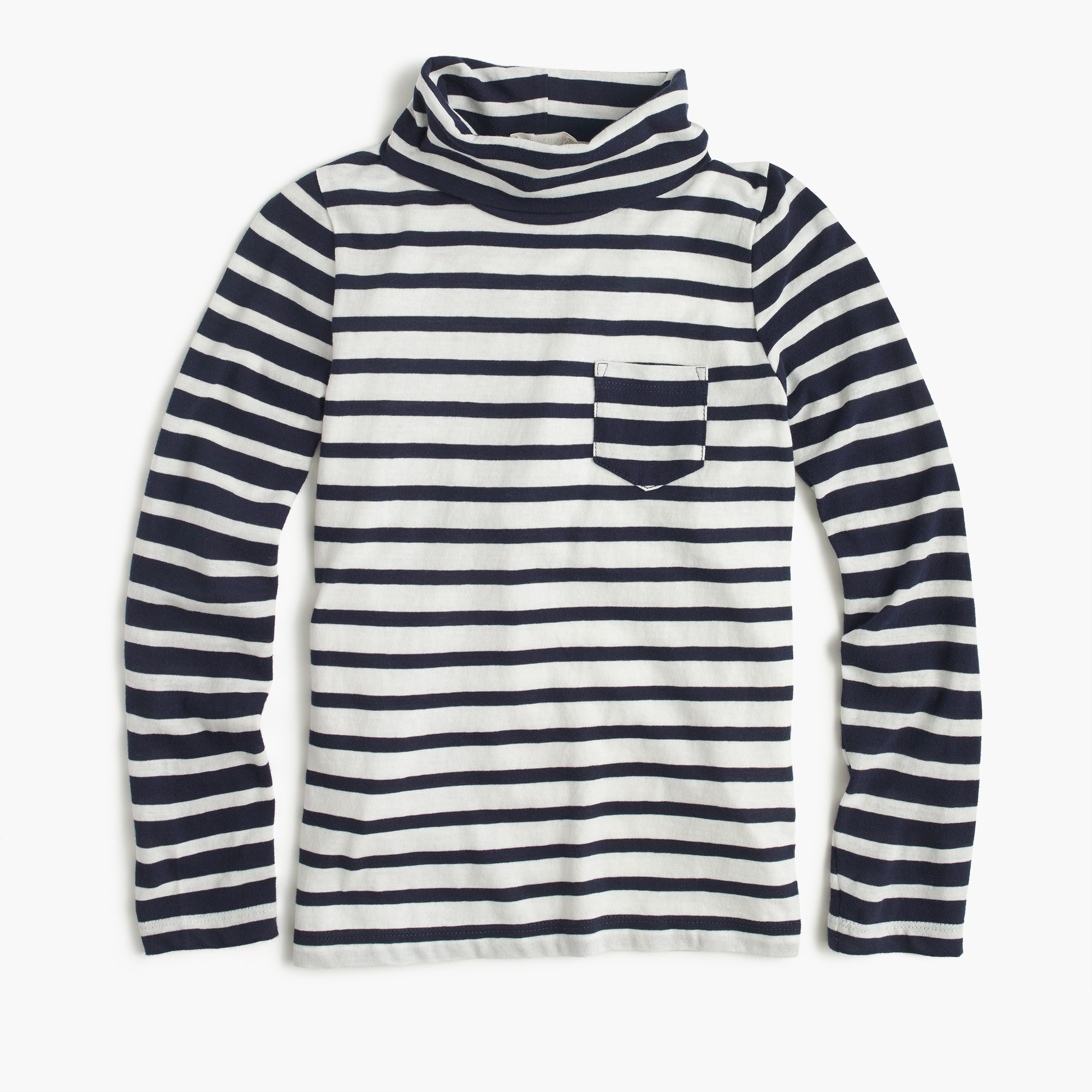 girls' turtleneck in colorblock stripe - girls' tops
