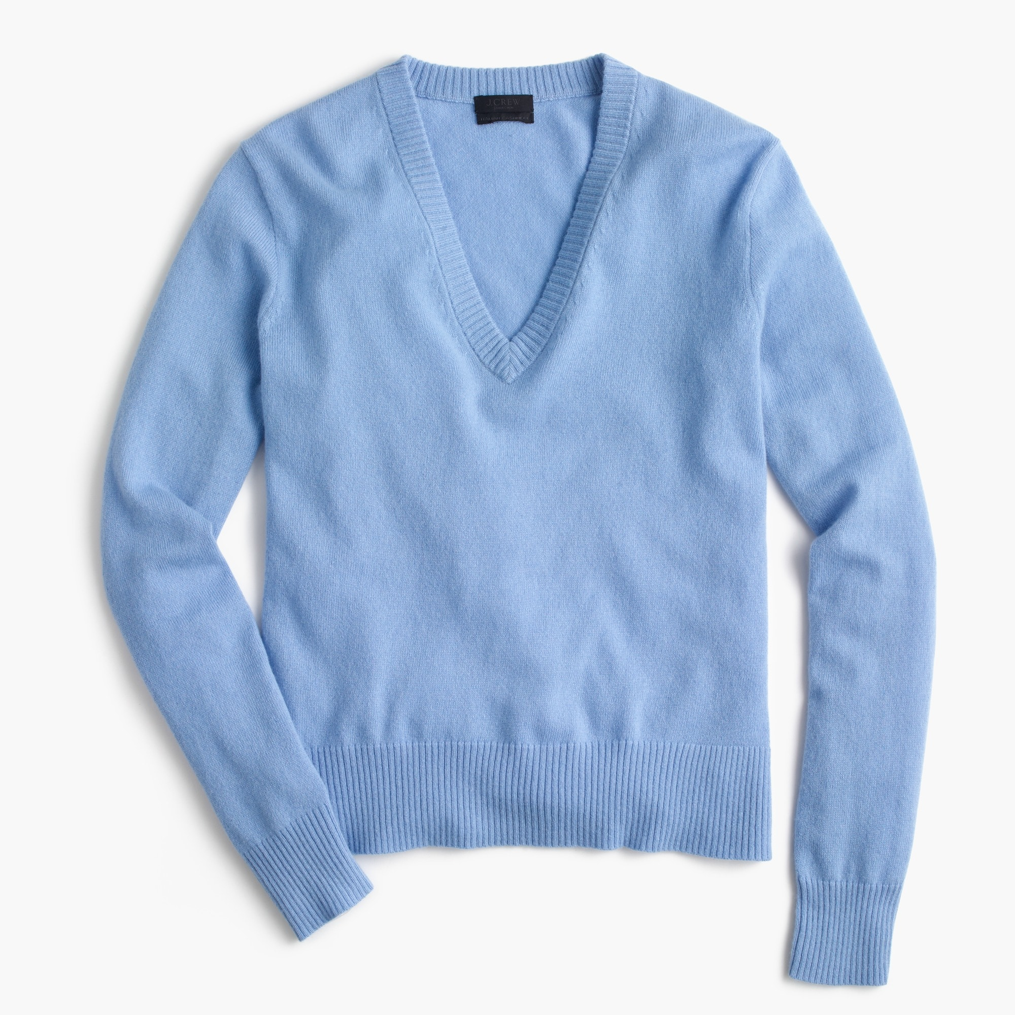 Italian cashmere easy V-neck sweater