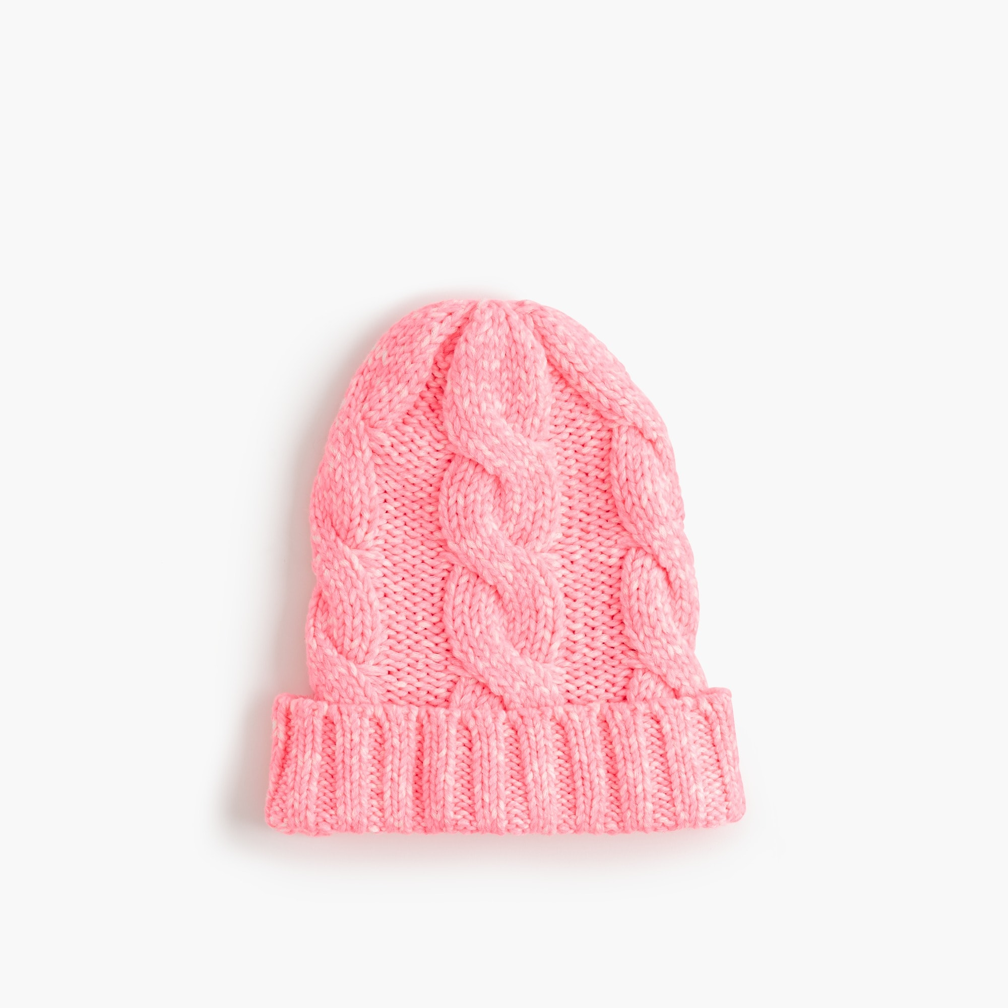 Girls' cable-knit beanie hat