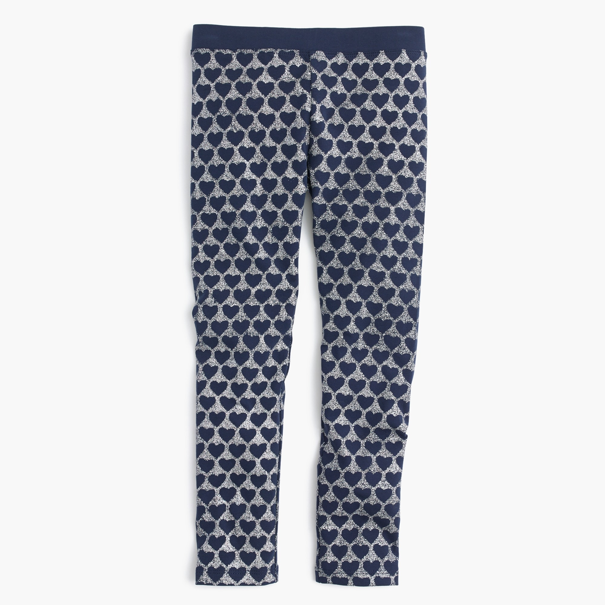 Girls' everyday leggings in glitter hearts
