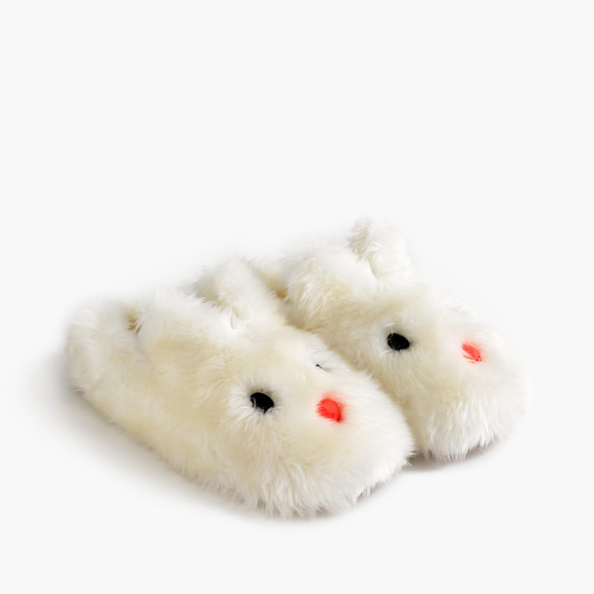 Girls' bunny slippers