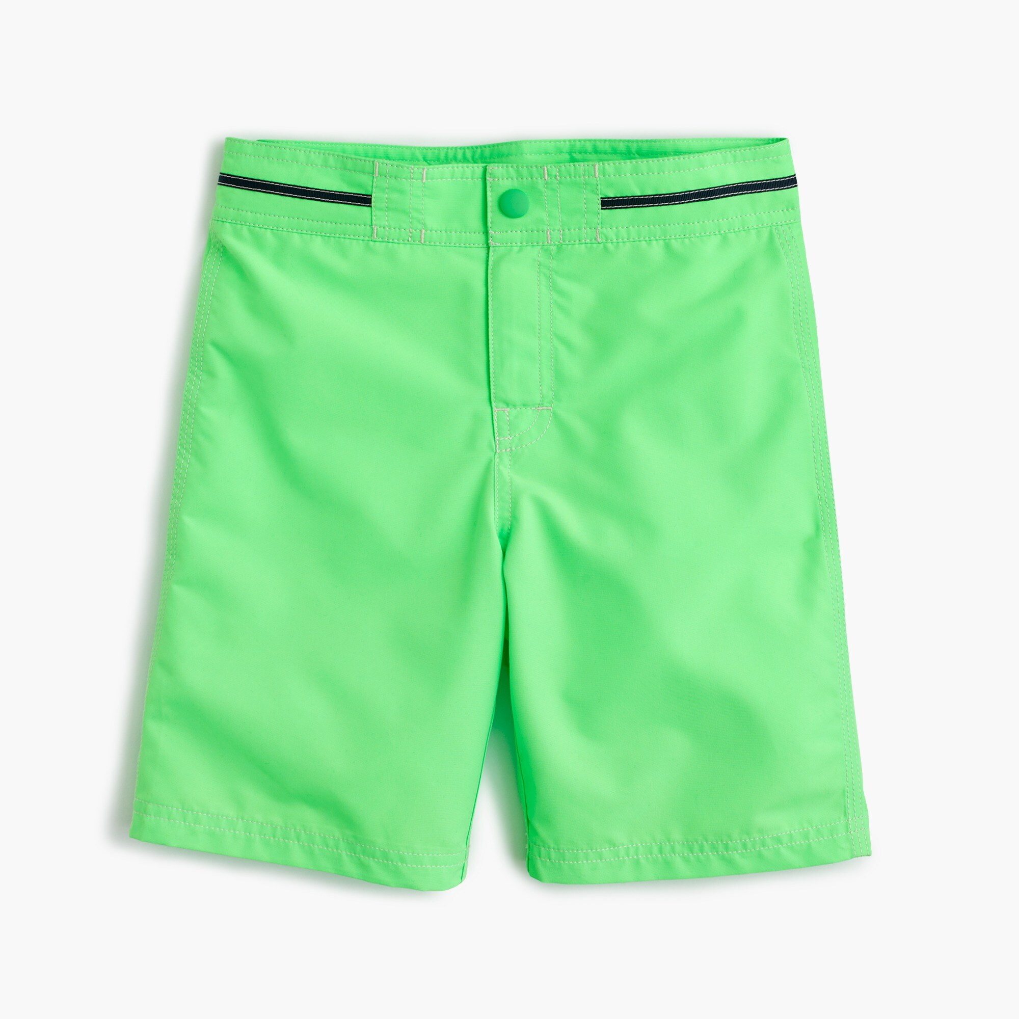 boys' snap-front board short in neon tangerine : boys' swim
