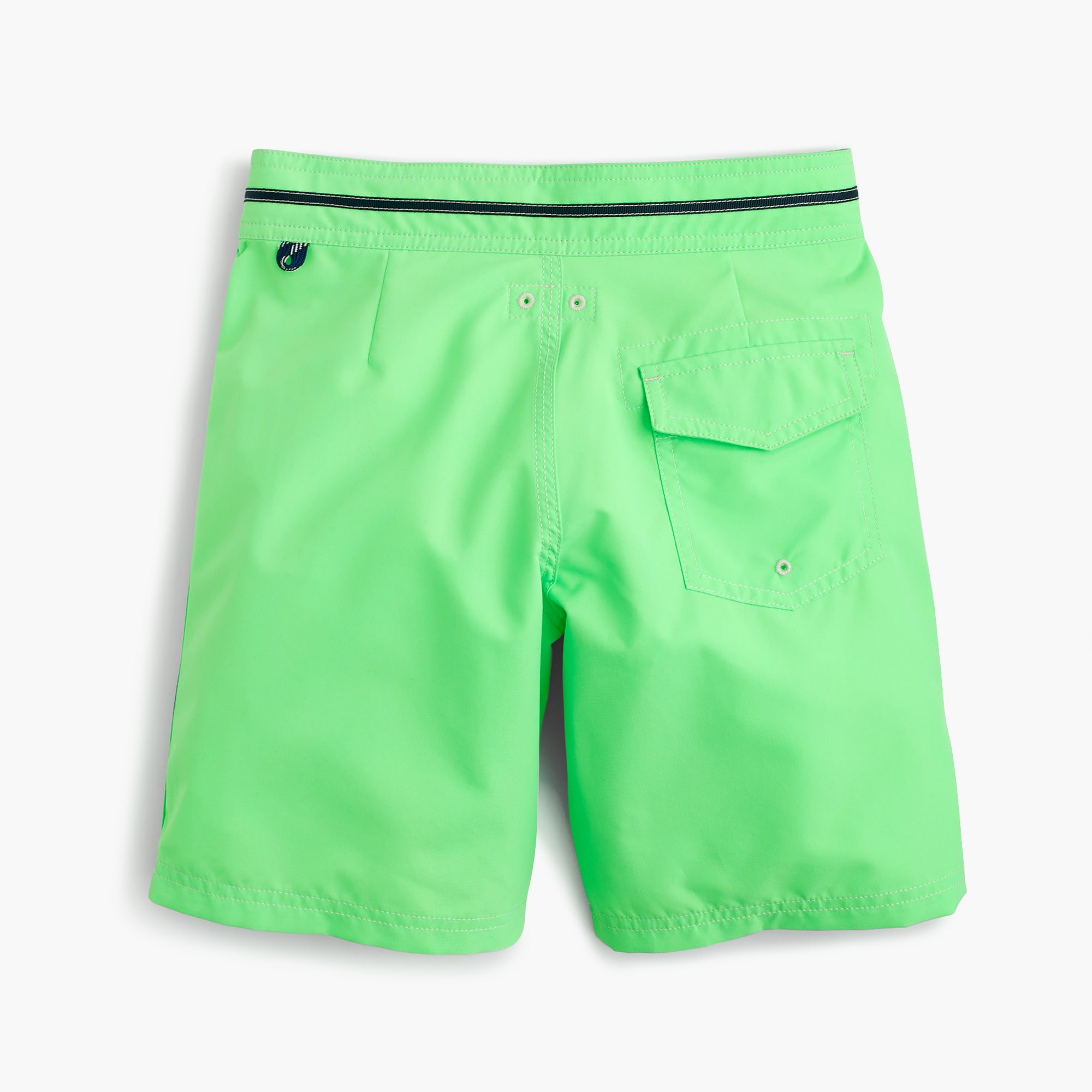 Image 1 for Boys' snap-front board short in neon