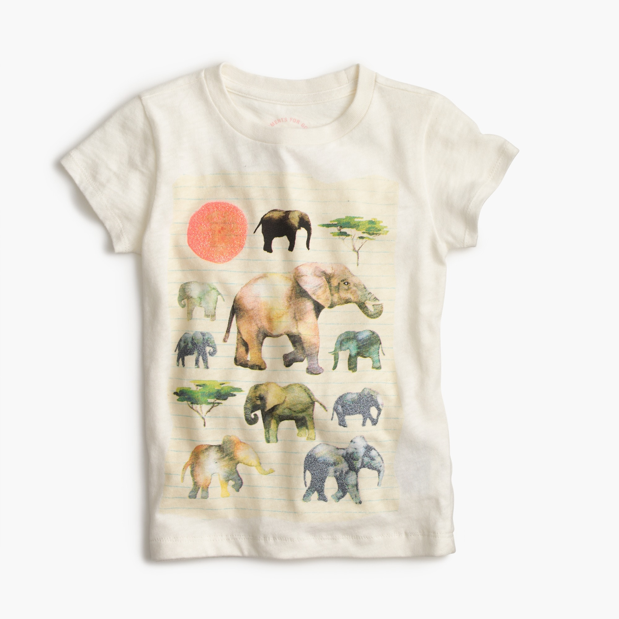 girls' crewcuts for david sheldrick wildlife trust elephant t-shirt : girls' tees