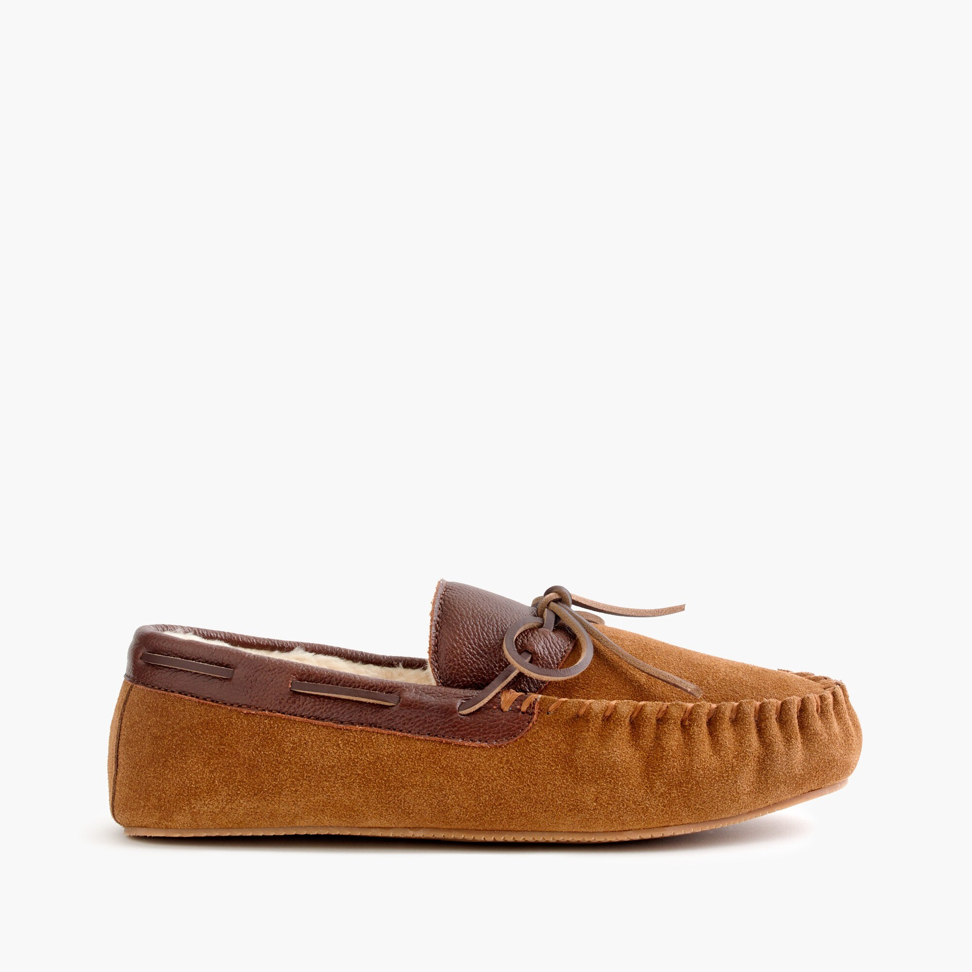 suede-and-leather slippers : men's slippers