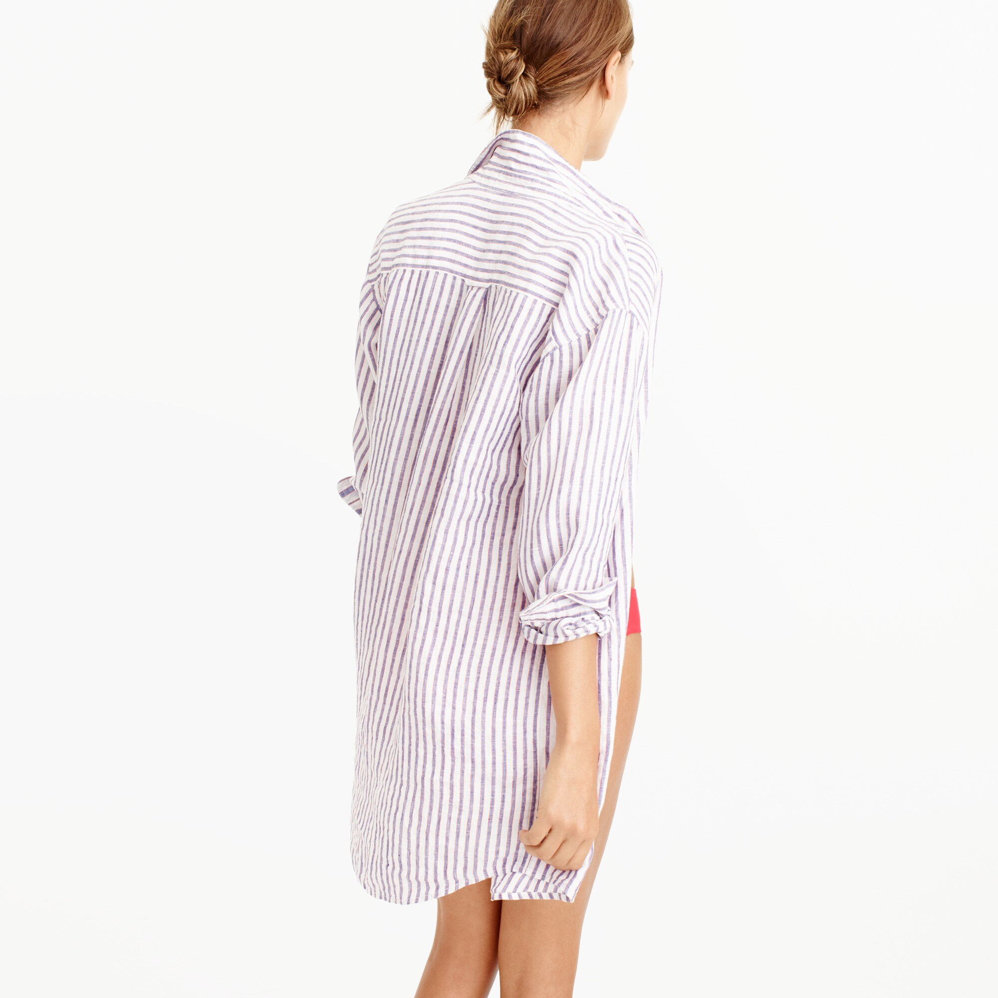 Striped button-up tunic
