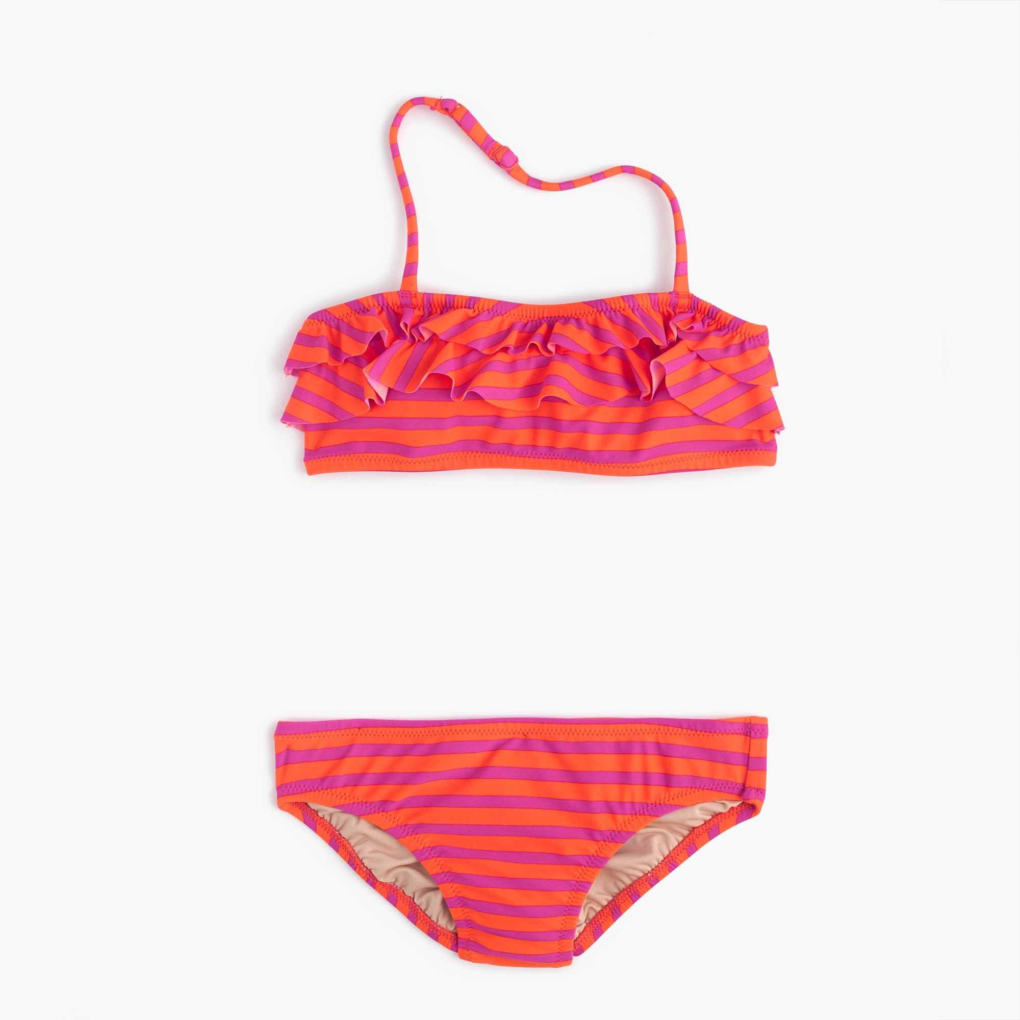 Girls' ruffle bikini set in sailor stripes girl swim & rash guards c