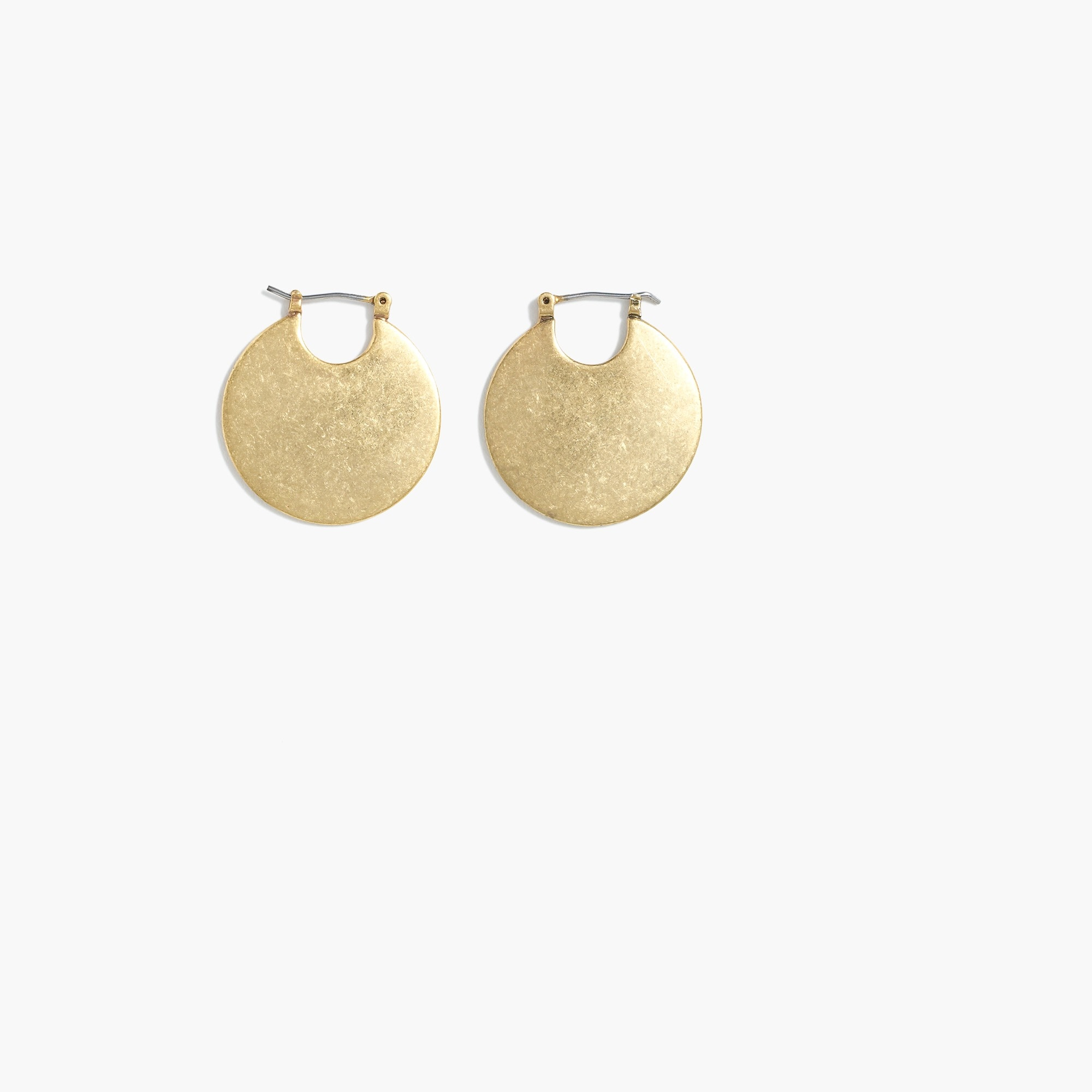 round disk earrings : women's earrings