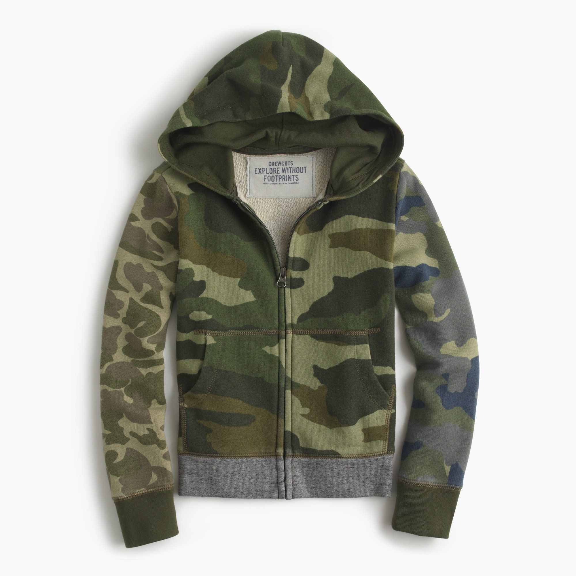 boys' mash-up camo hoodie : boys' hoodies