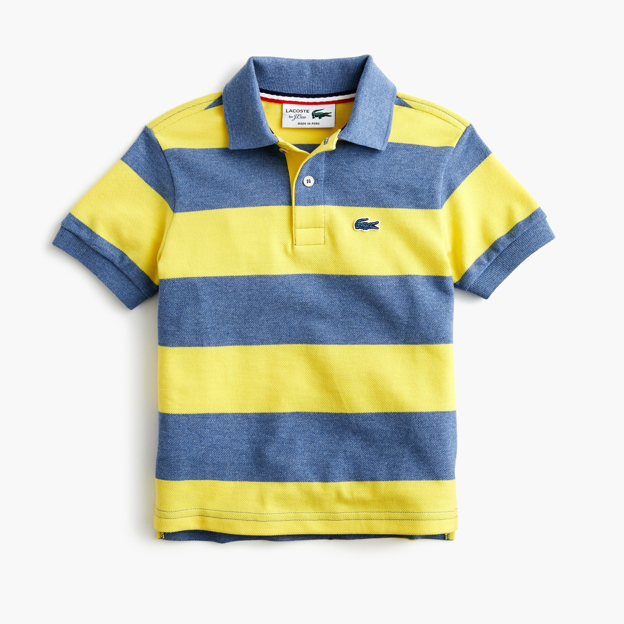 boys' lacoste® for j.crew striped polo shirt - boys' tees