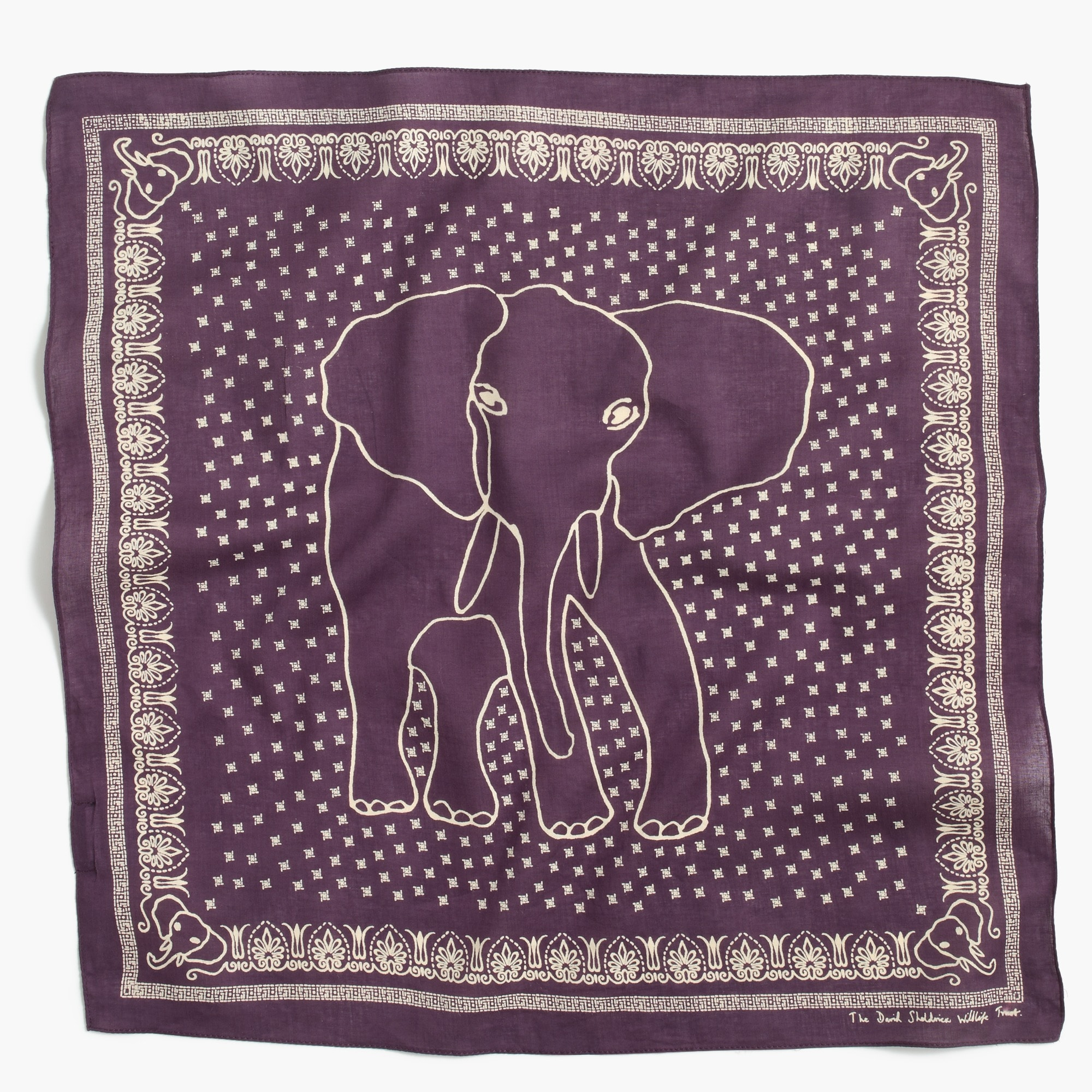 j.crew for david sheldrick wildlife trust elephant bandana : men's accessories