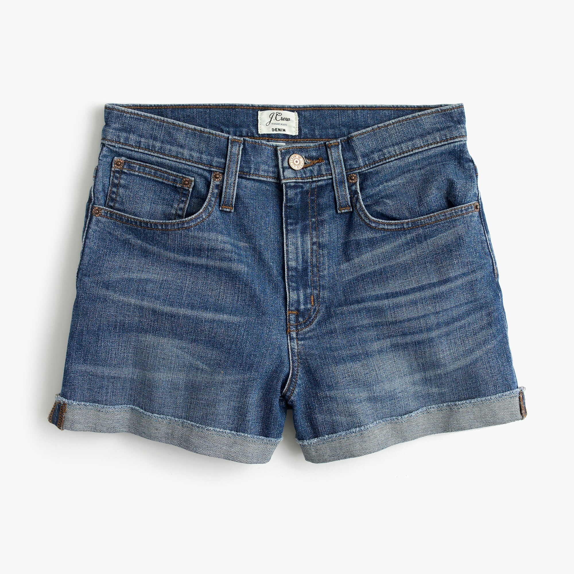 High-rise denim short in Brixton wash