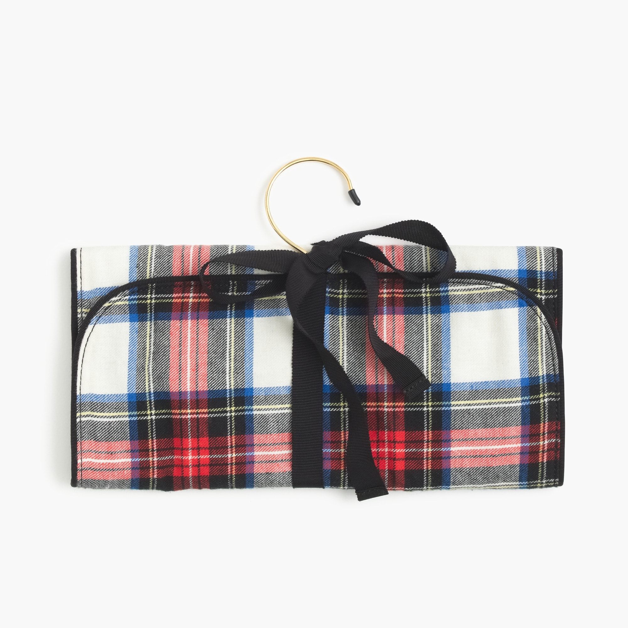 festive plaid jewelry roll : women's accessories