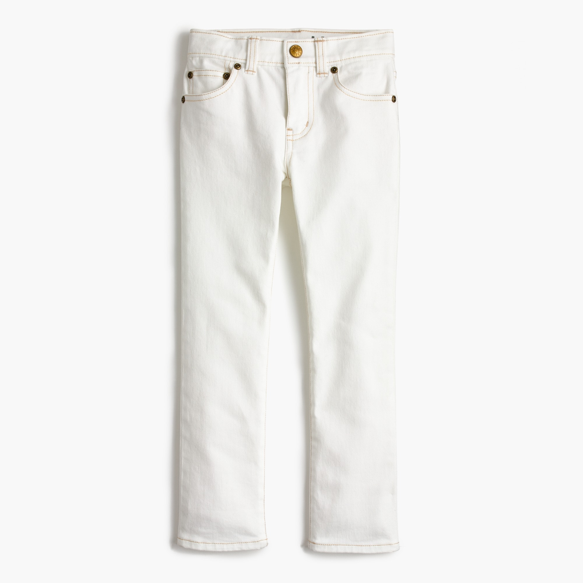 Boys' white jean in stretch skinny fit boy pants c
