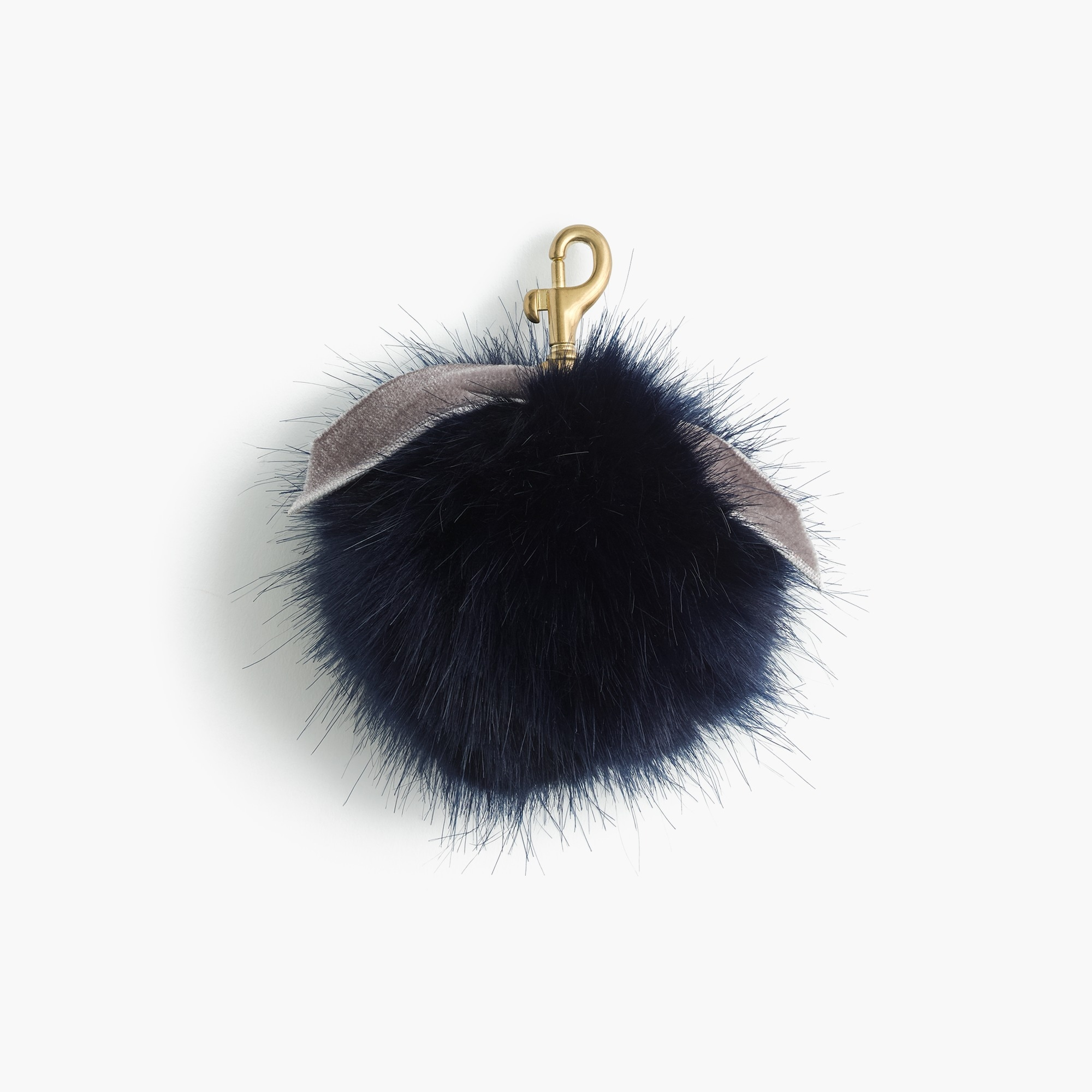 faux-fur pom-pom : women's small leather goods
