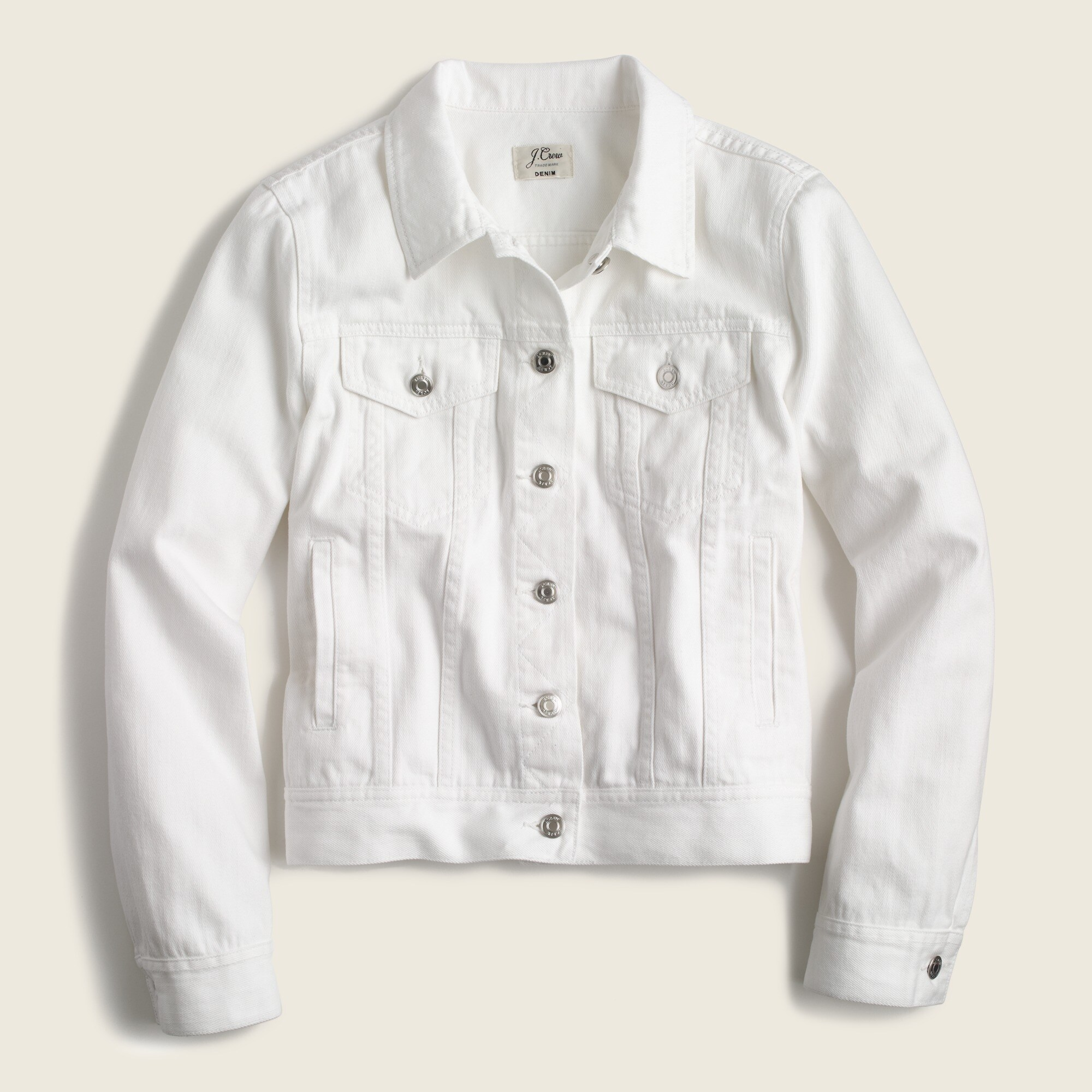 Image 2 for Petite denim jacket in white