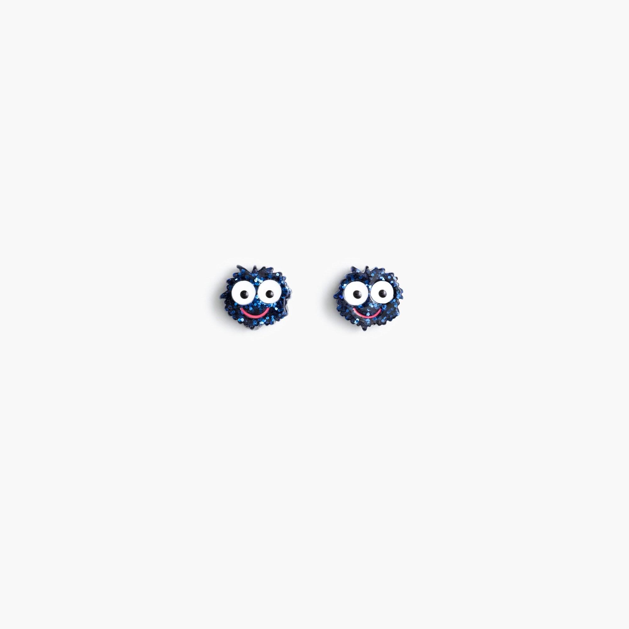 Girls' Max the Monster glitter earrings