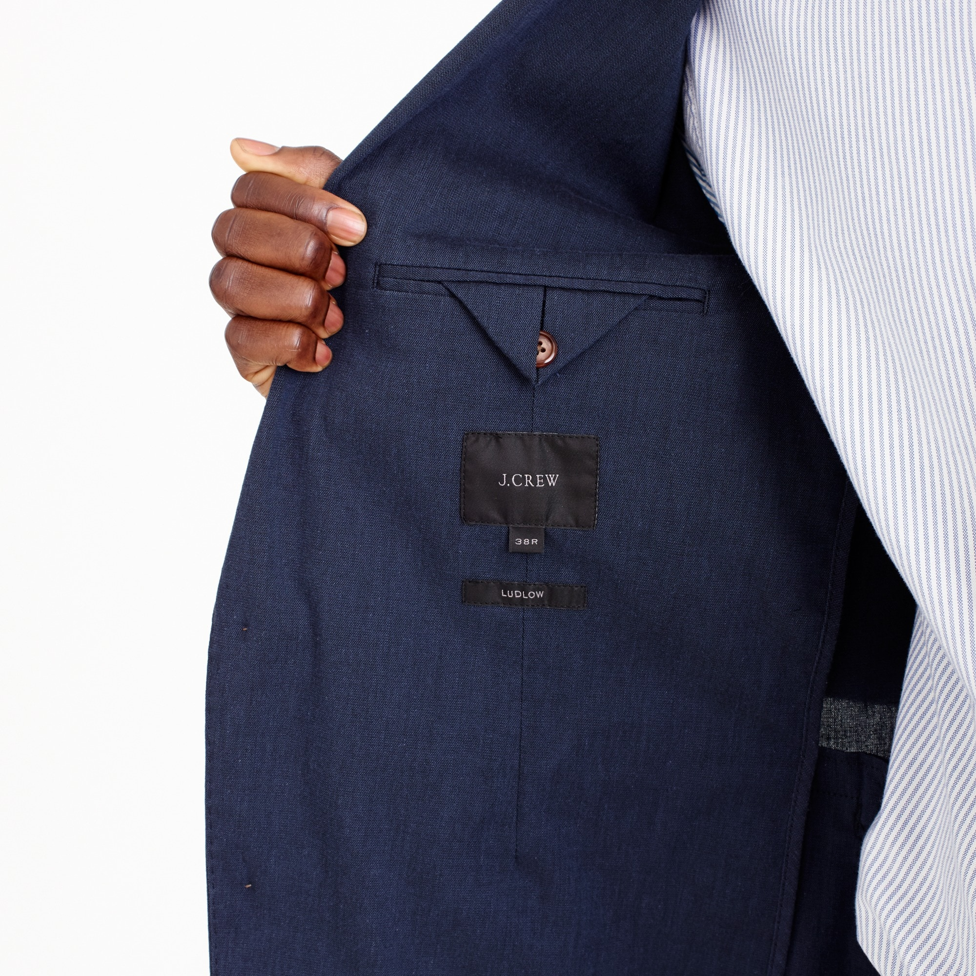 Image 6 for Ludlow Slim-fit unstructured suit jacket in stretch cotton