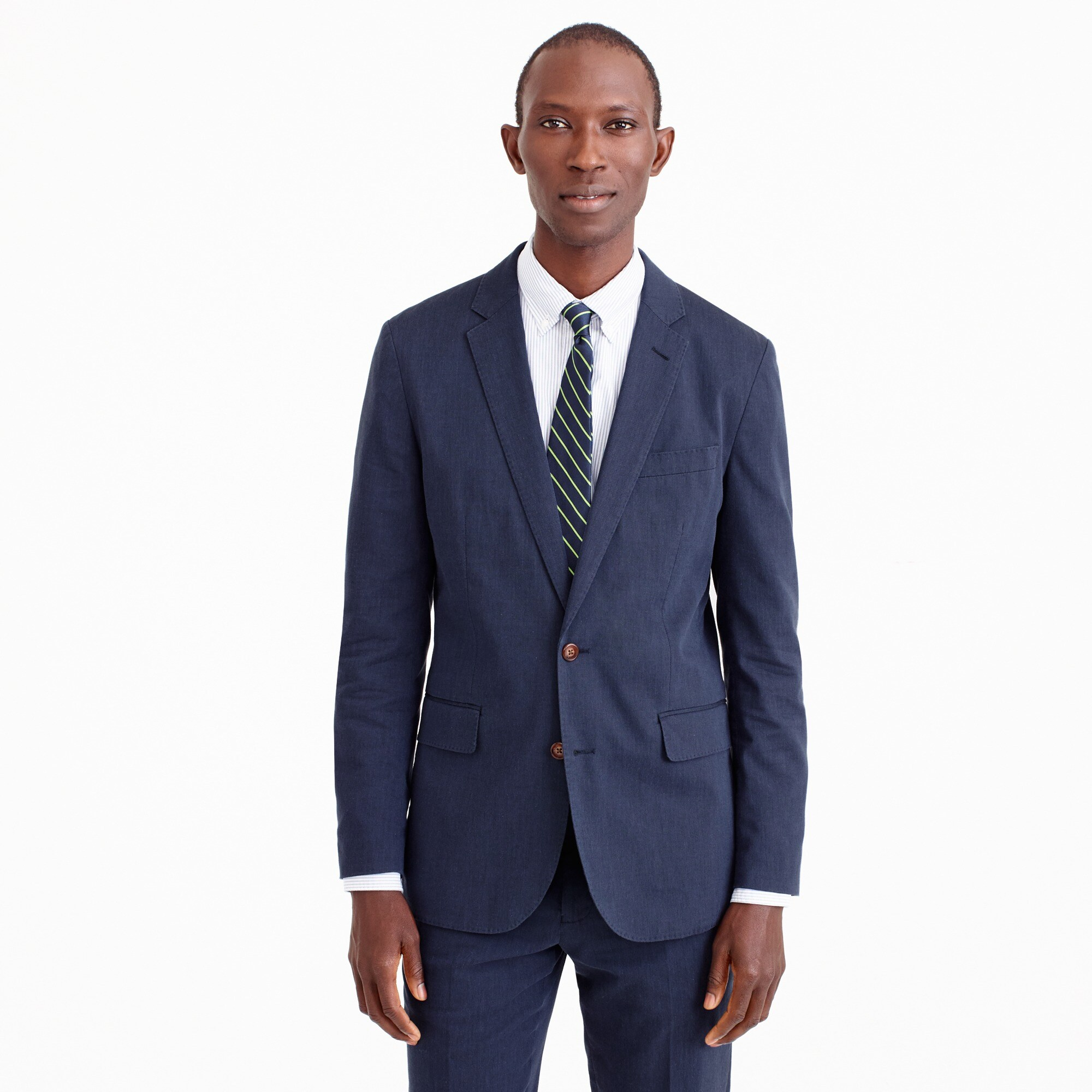 Unstructured Ludlow blazer in stretch cotton-linen