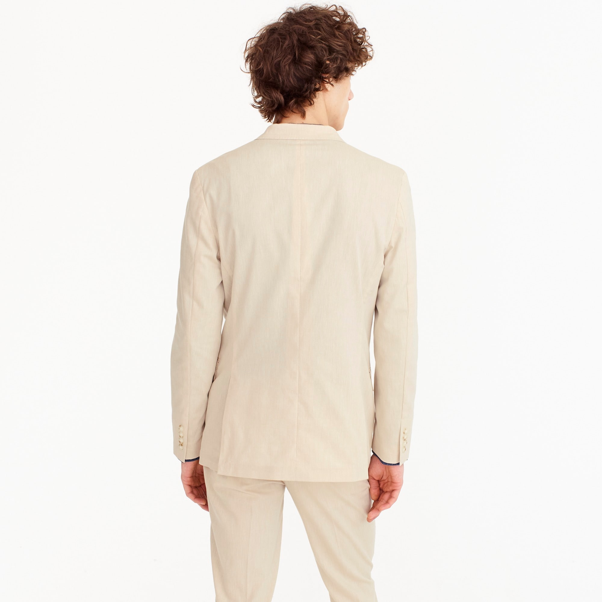 Ludlow unstructured suit jacket in stretch cotton