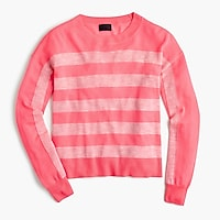 Italian featherweight cashmere striped sweater