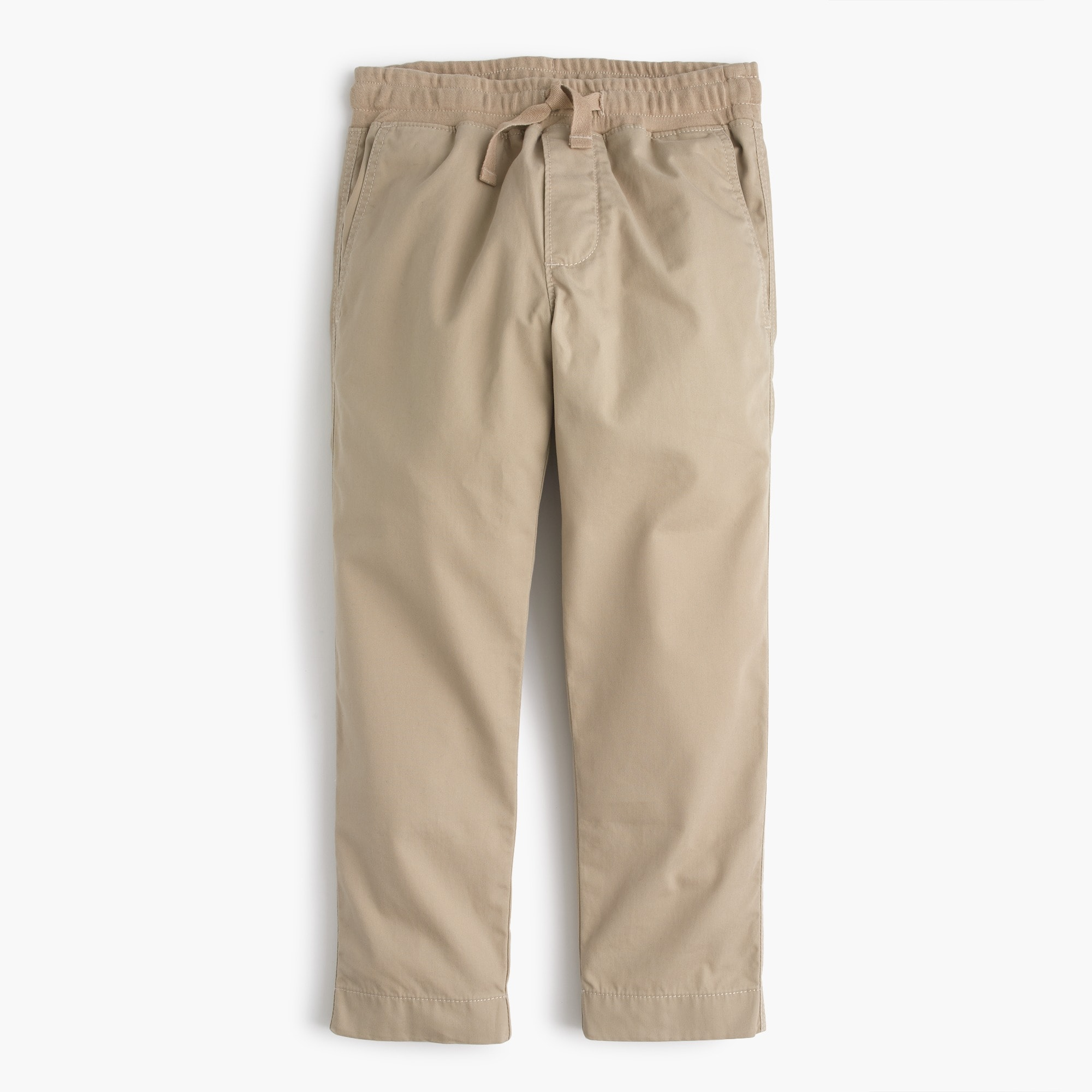 boys' lightweight chino pull-on pant with reinforced knees : boys' pants