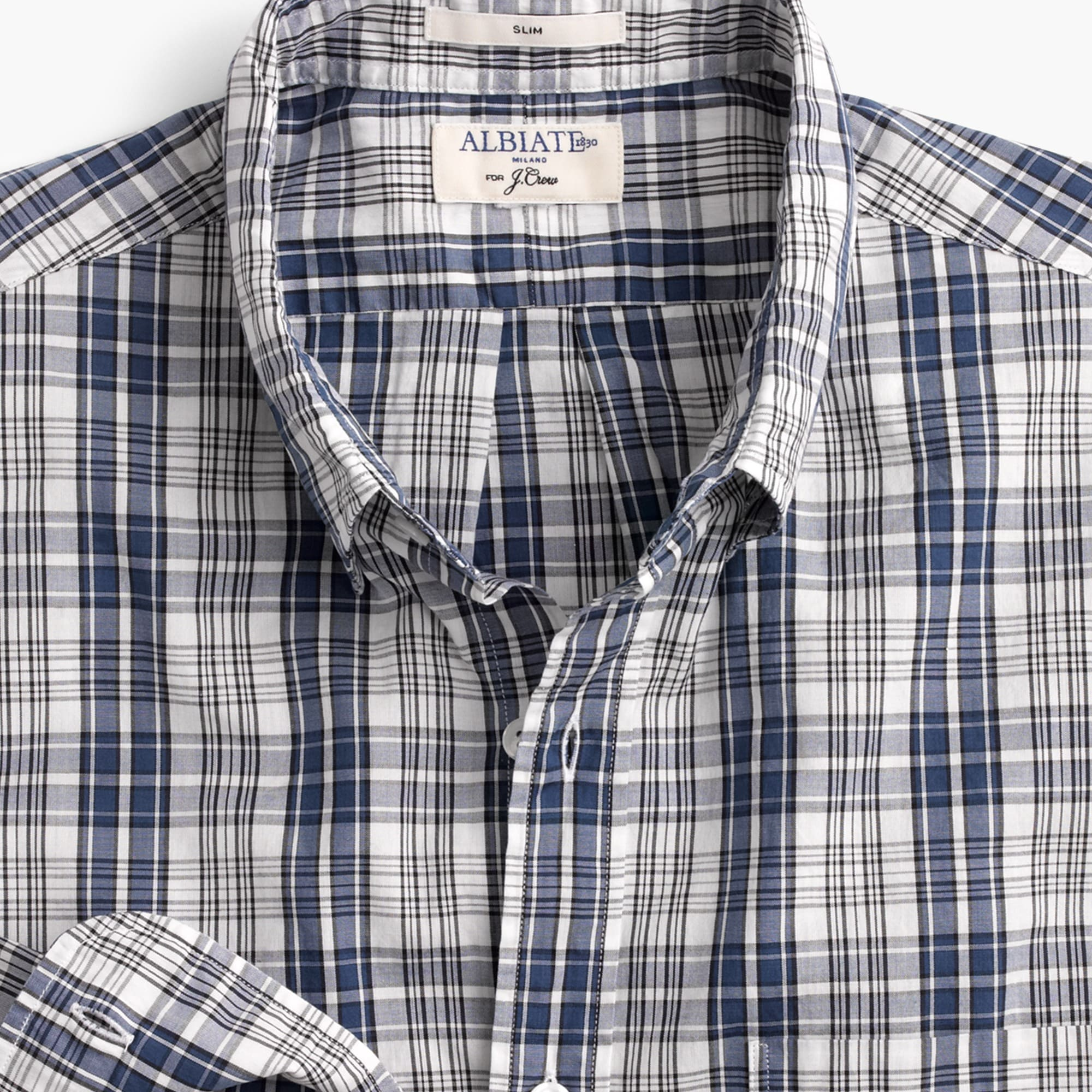 Slim Albiate 1830 for J.Crew washed shirt in plaid