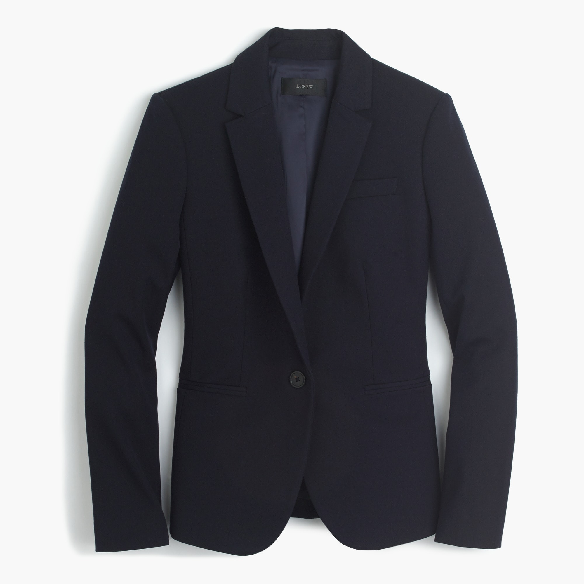 Petite Campbell blazer in two-way stretch cotton