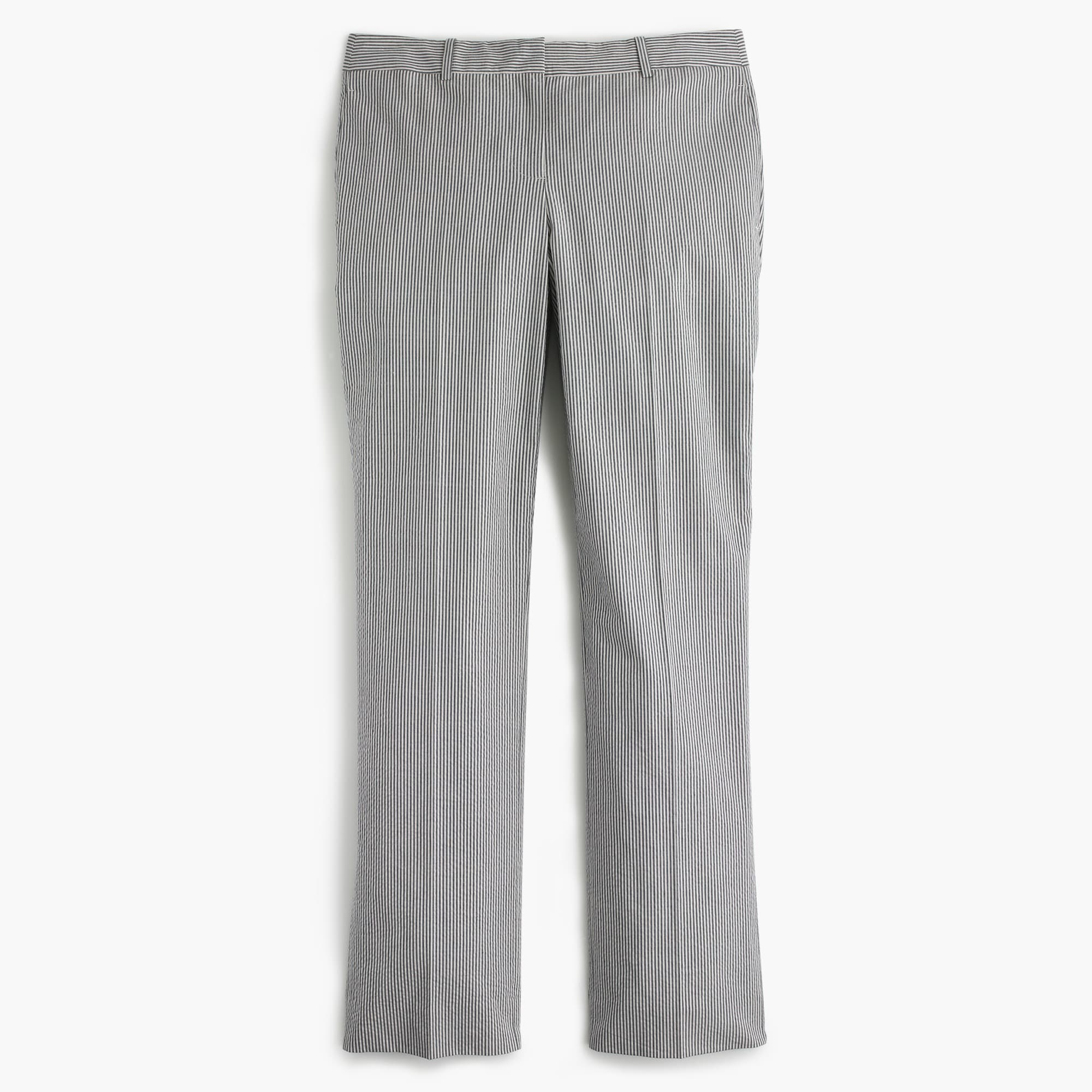 Tall cropped trouser in seersucker