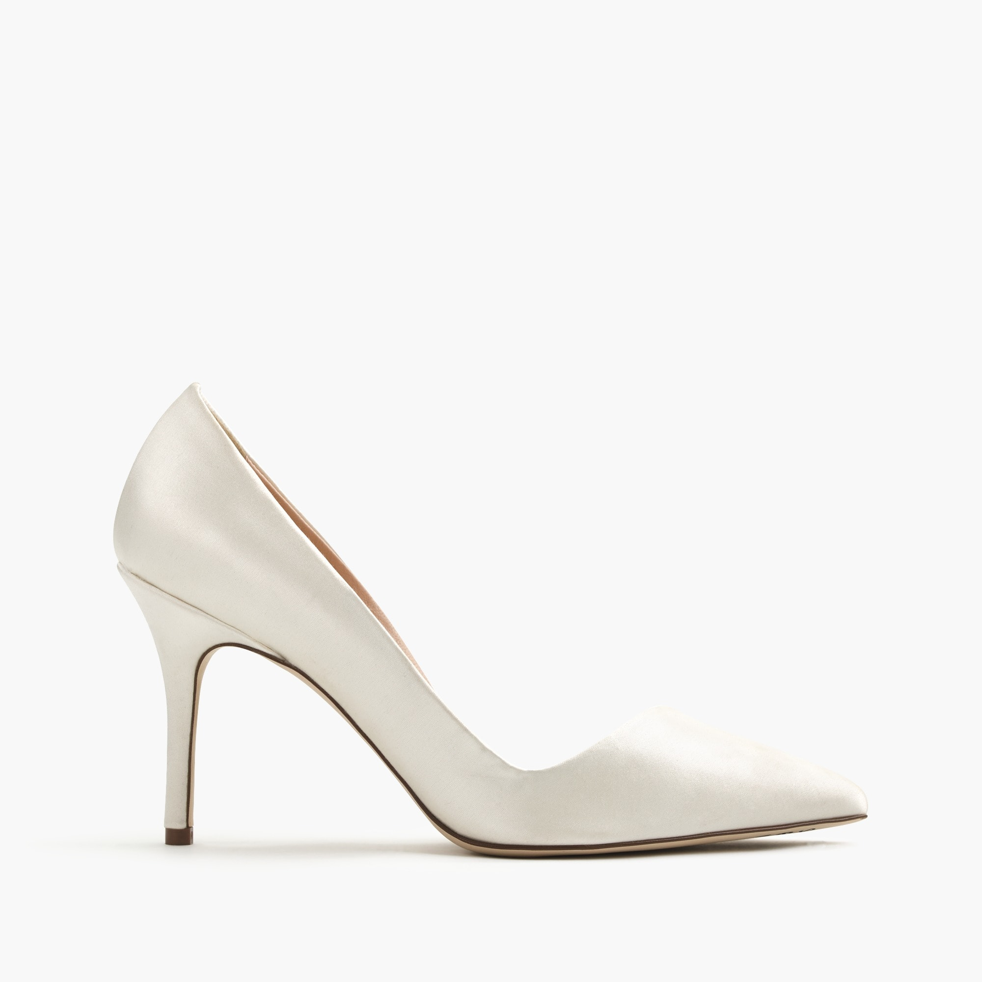 Elsie asymmetrical pumps in satin