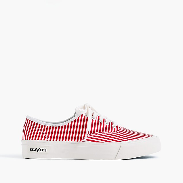SeaVees® for J.Crew Legend sneakers in skinny stripe