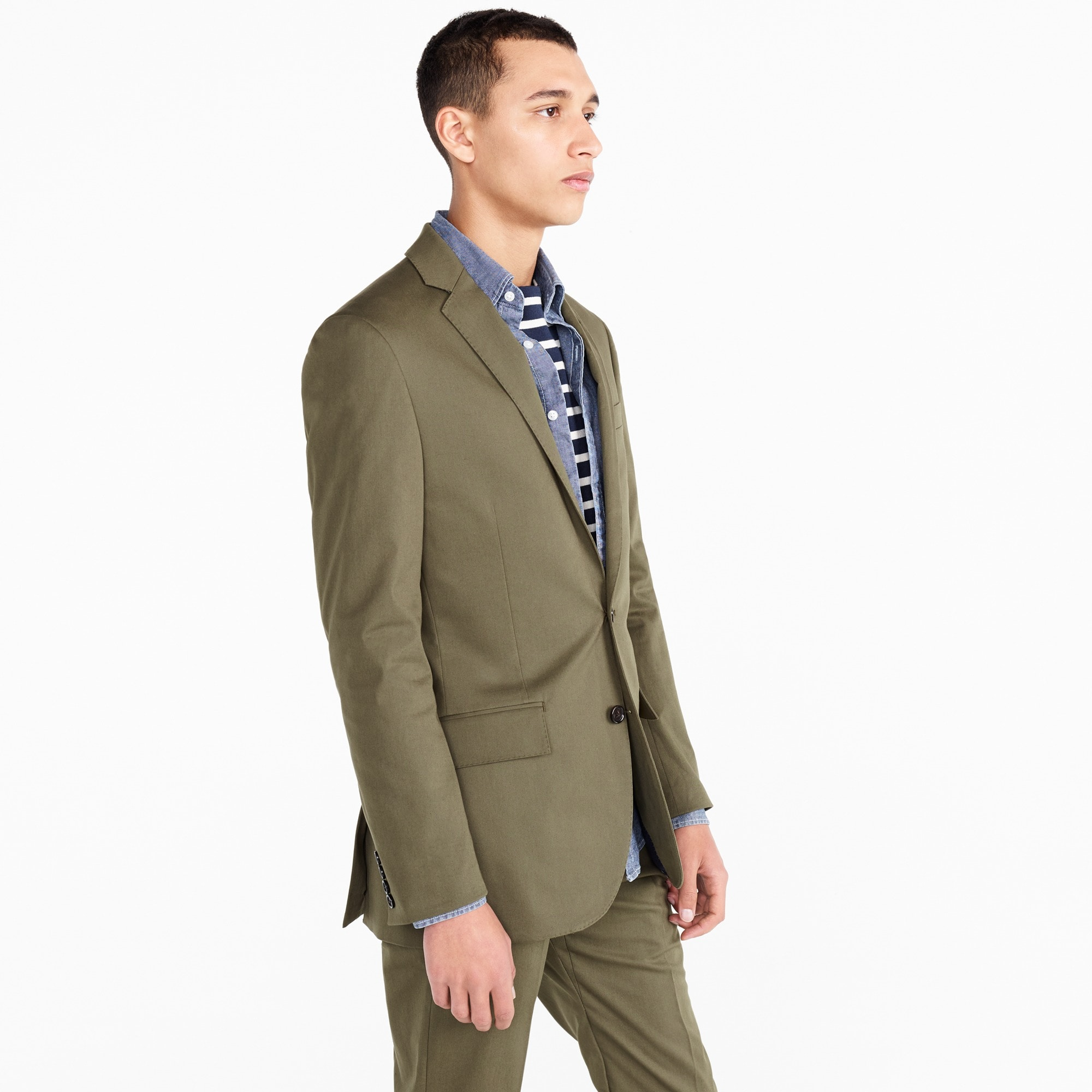 Image 3 for Ludlow Slim-fit suit jacket in Italian stretch chino
