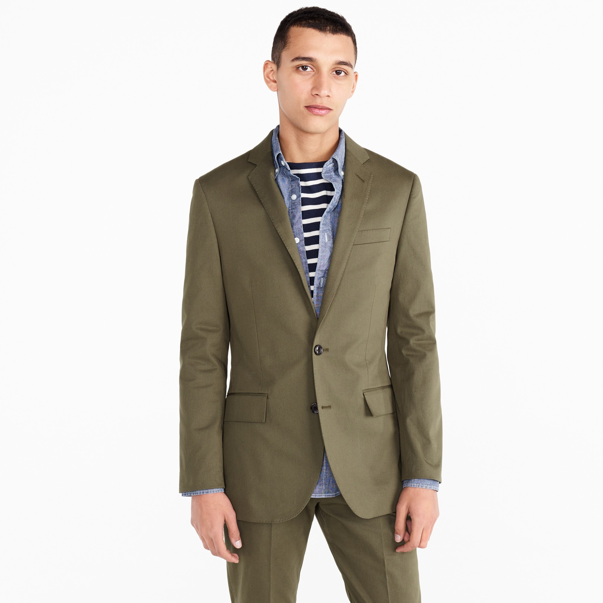 Ludlow Slim-fit suit jacket in Italian stretch chino