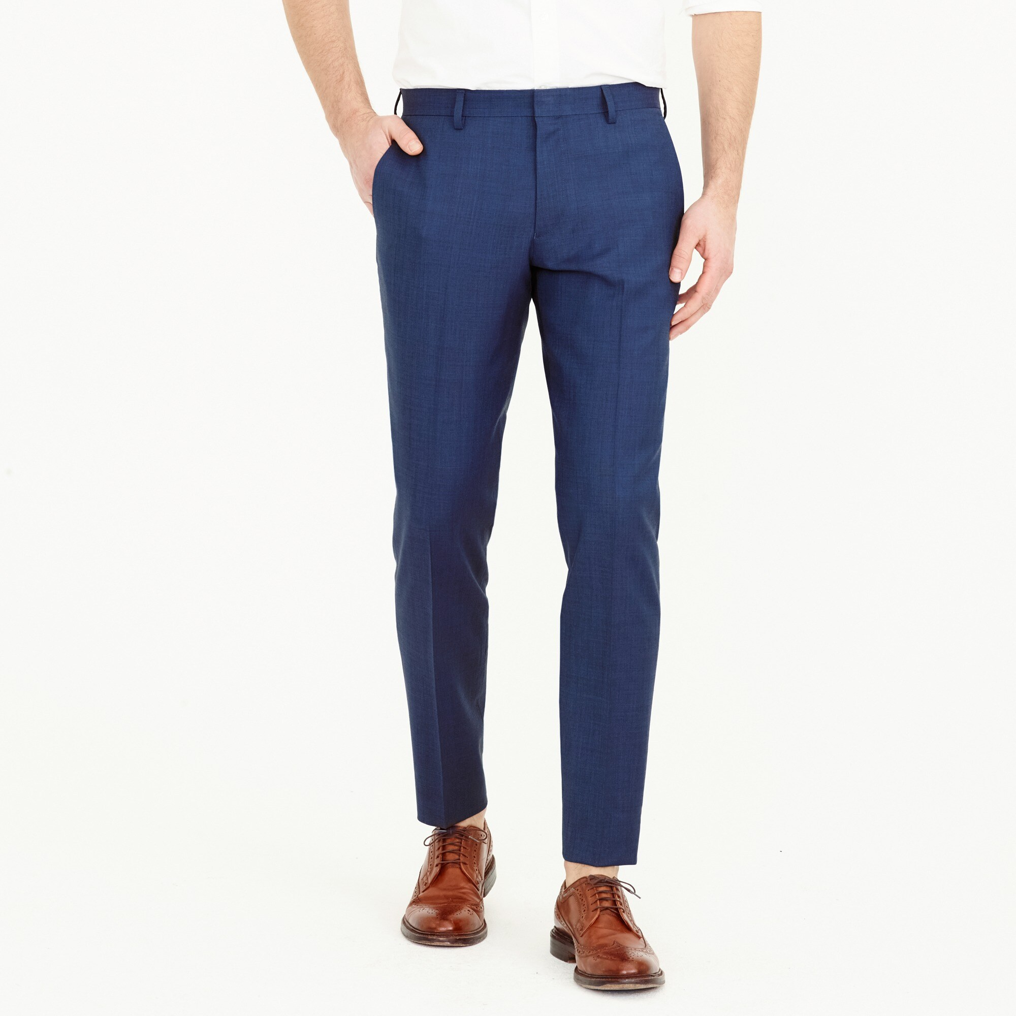 Ludlow Slim-fit suit pant in Italian stretch worsted wool