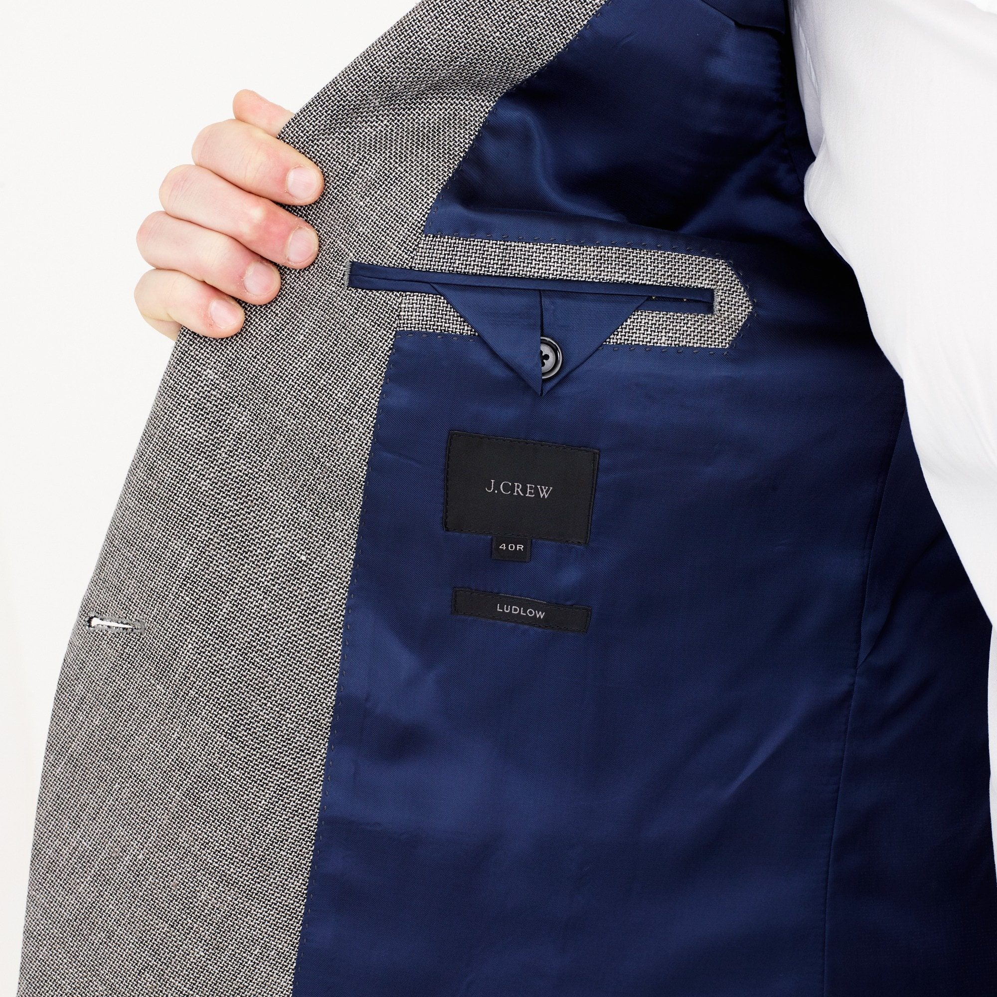 Ludlow dinner jacket in Italian linen-cotton