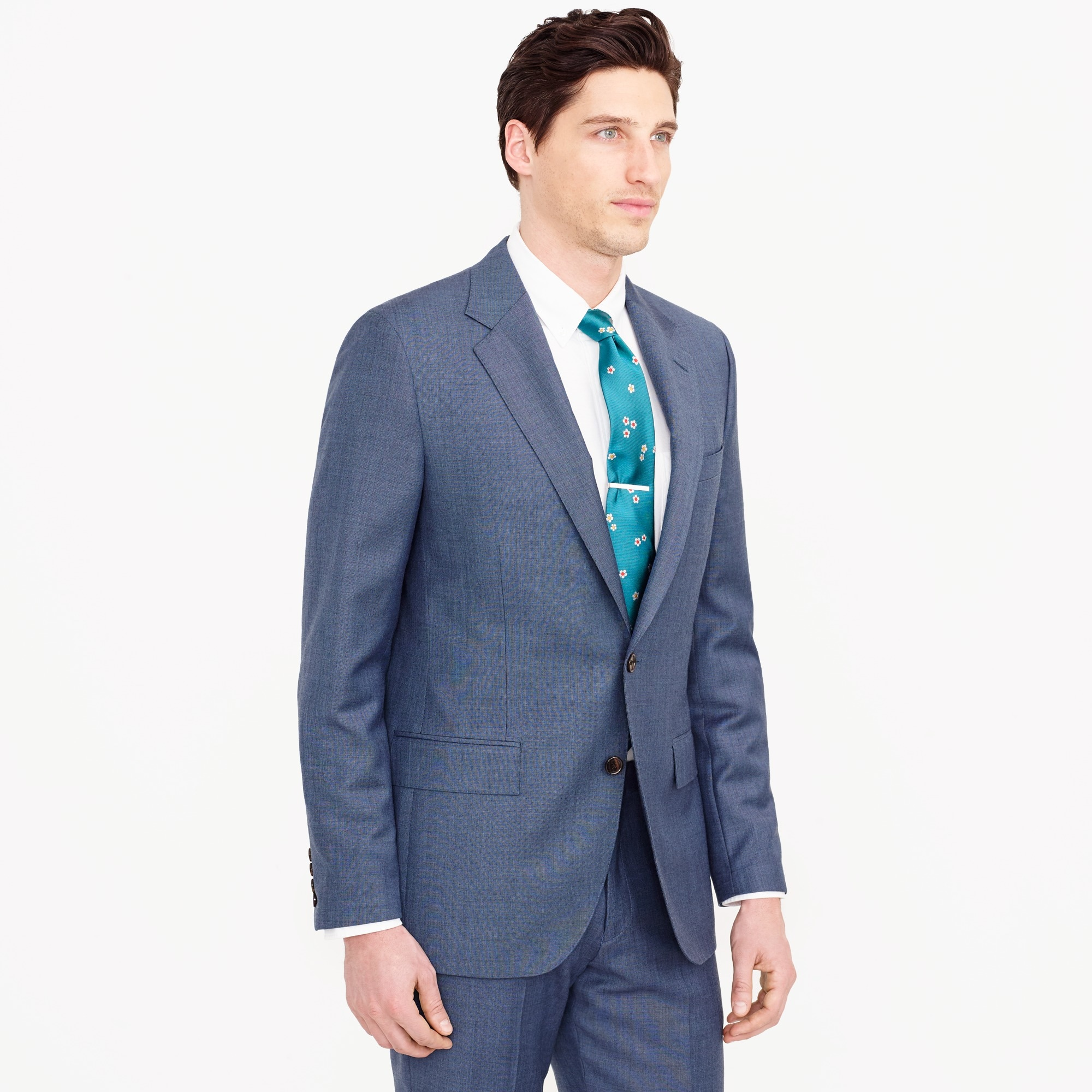 Ludlow Slim-fit wide-lapel suit jacket in Italian worsted wool