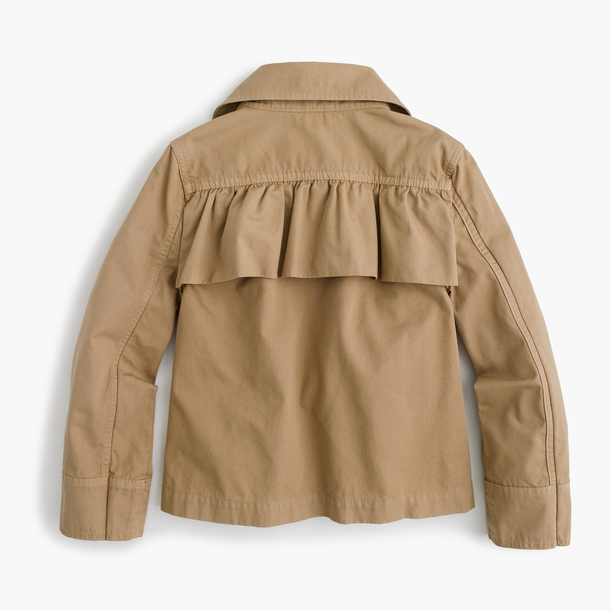 Girls' ruffle-back chino jacket