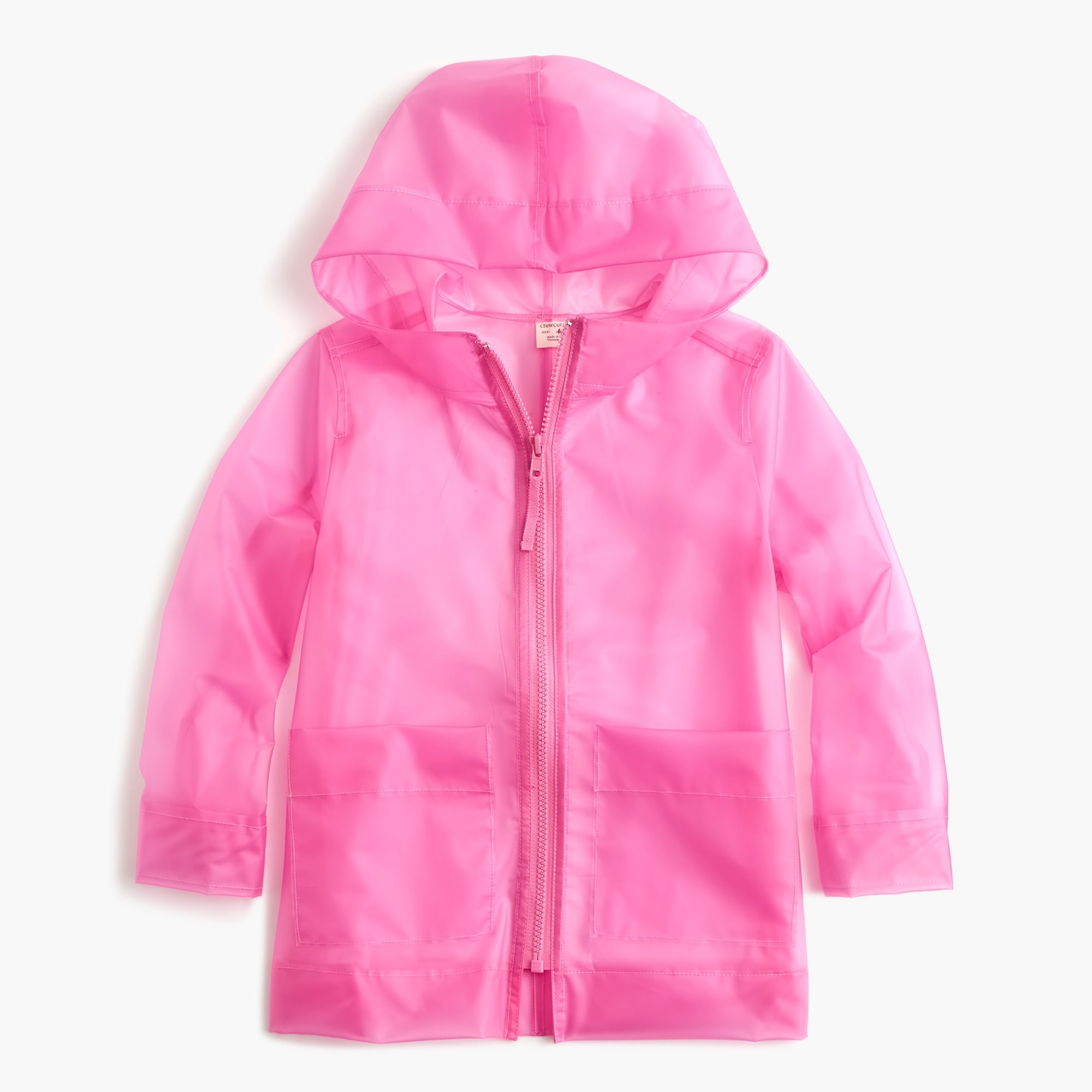 Kids' water-resistant rain jacket