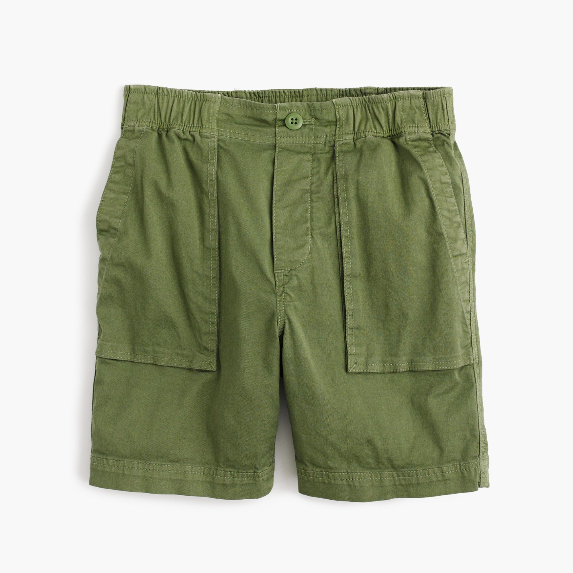 boys' stretch patch-pocket pull-on short in chino : boy pull-on shorts