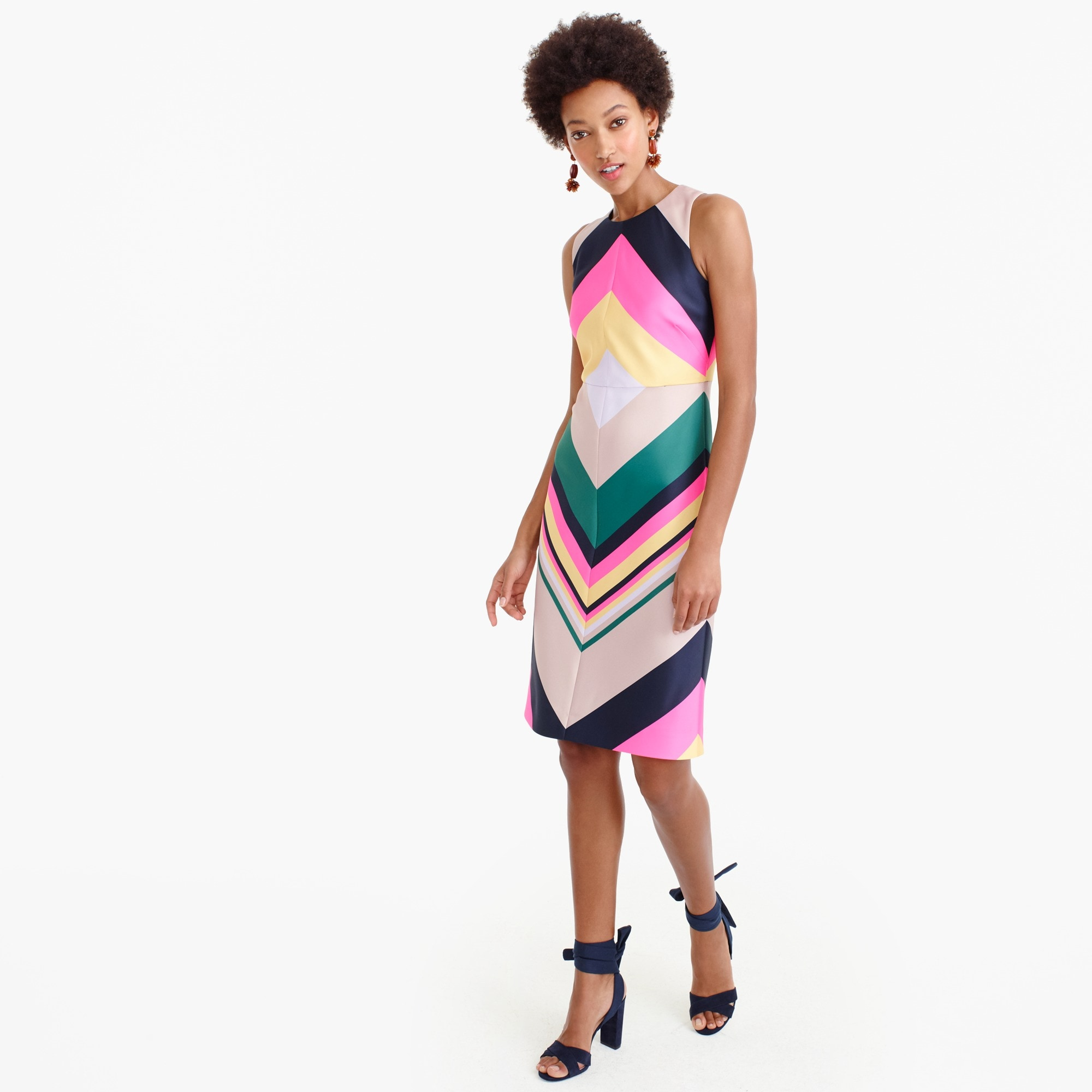Pop-stripe dress