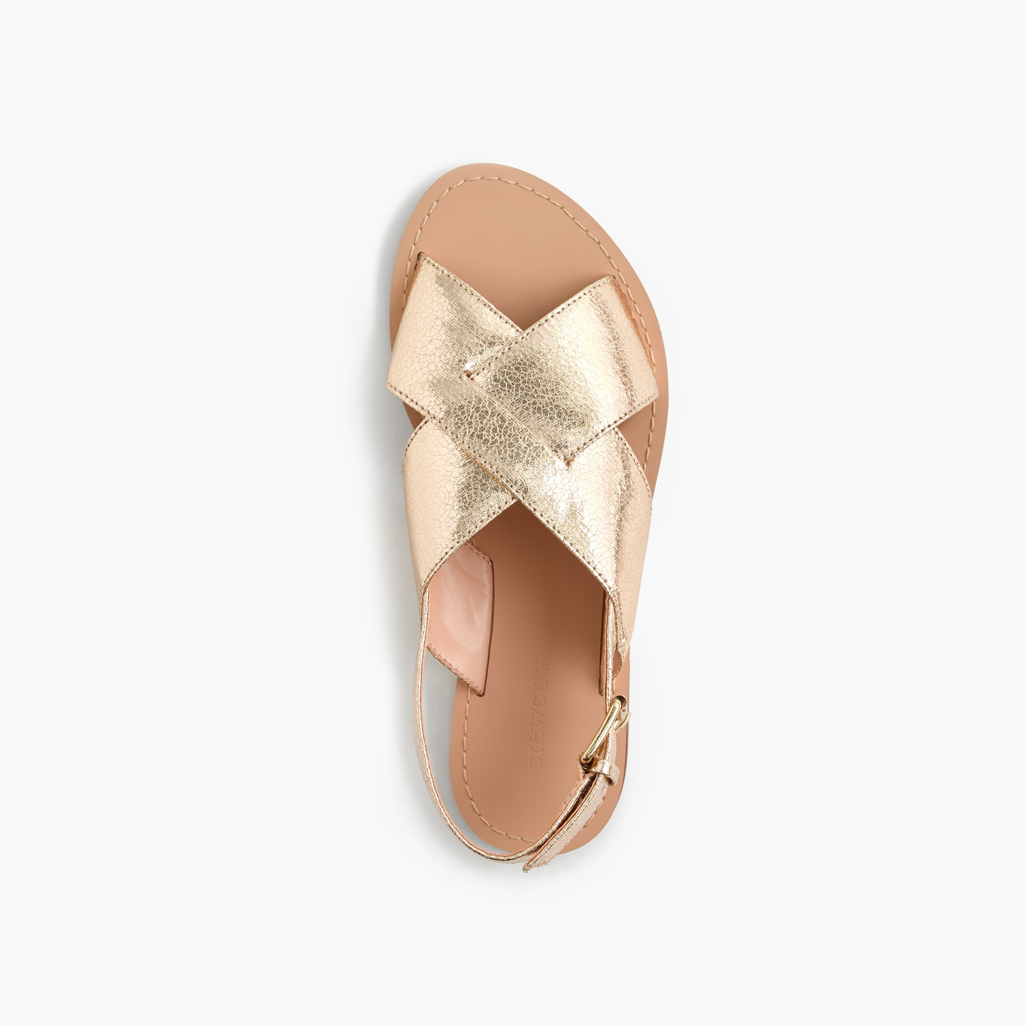 Girls' metallic Cyprus sandals